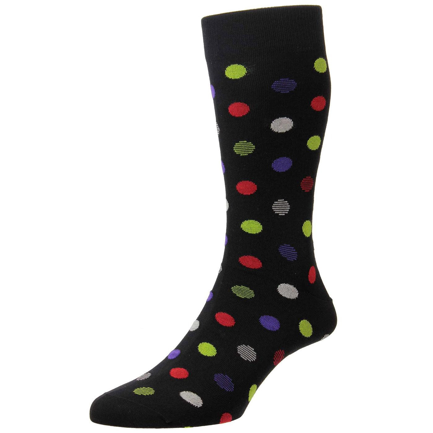 + Nouvel PANTHERELLA Retro Mod Penny Dot Socks (B)