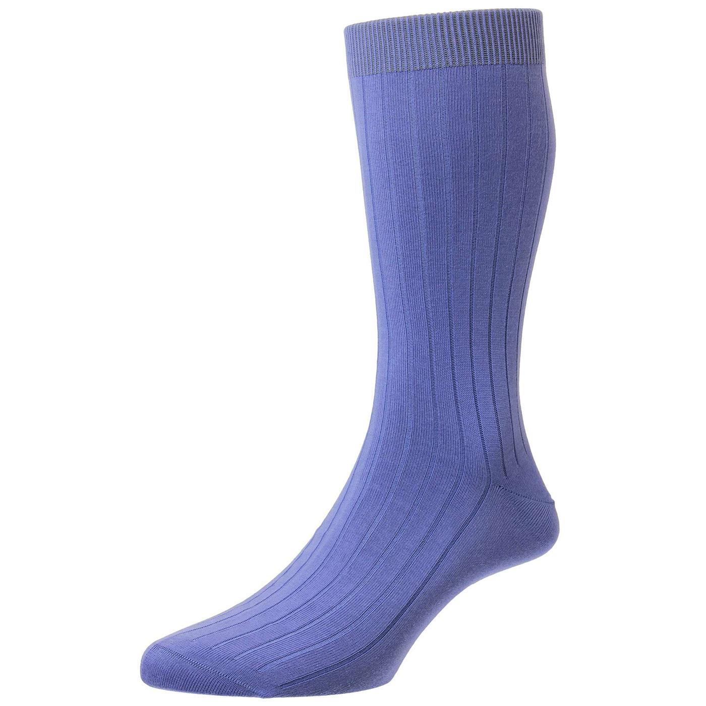 + PANTHERELLA Retro Mod Plain Knit Ribbed Socks C
