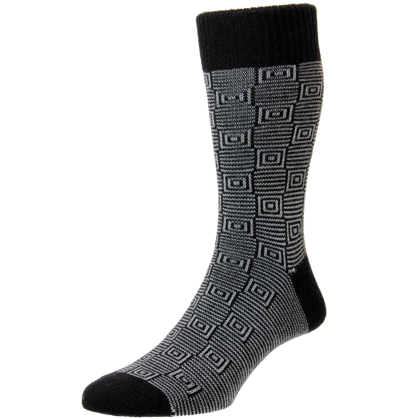 + Ray PANTHERELLA Mod Spiral Square Socks (B/S)