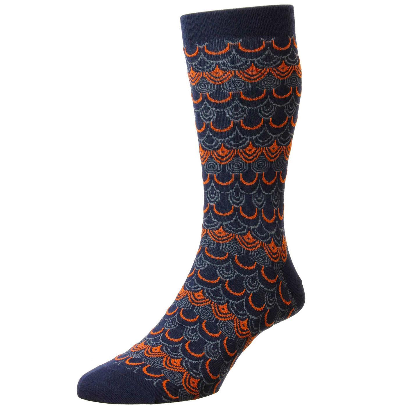 + Sakana PANTHERELLA Retro Art Deco Pattern Socks