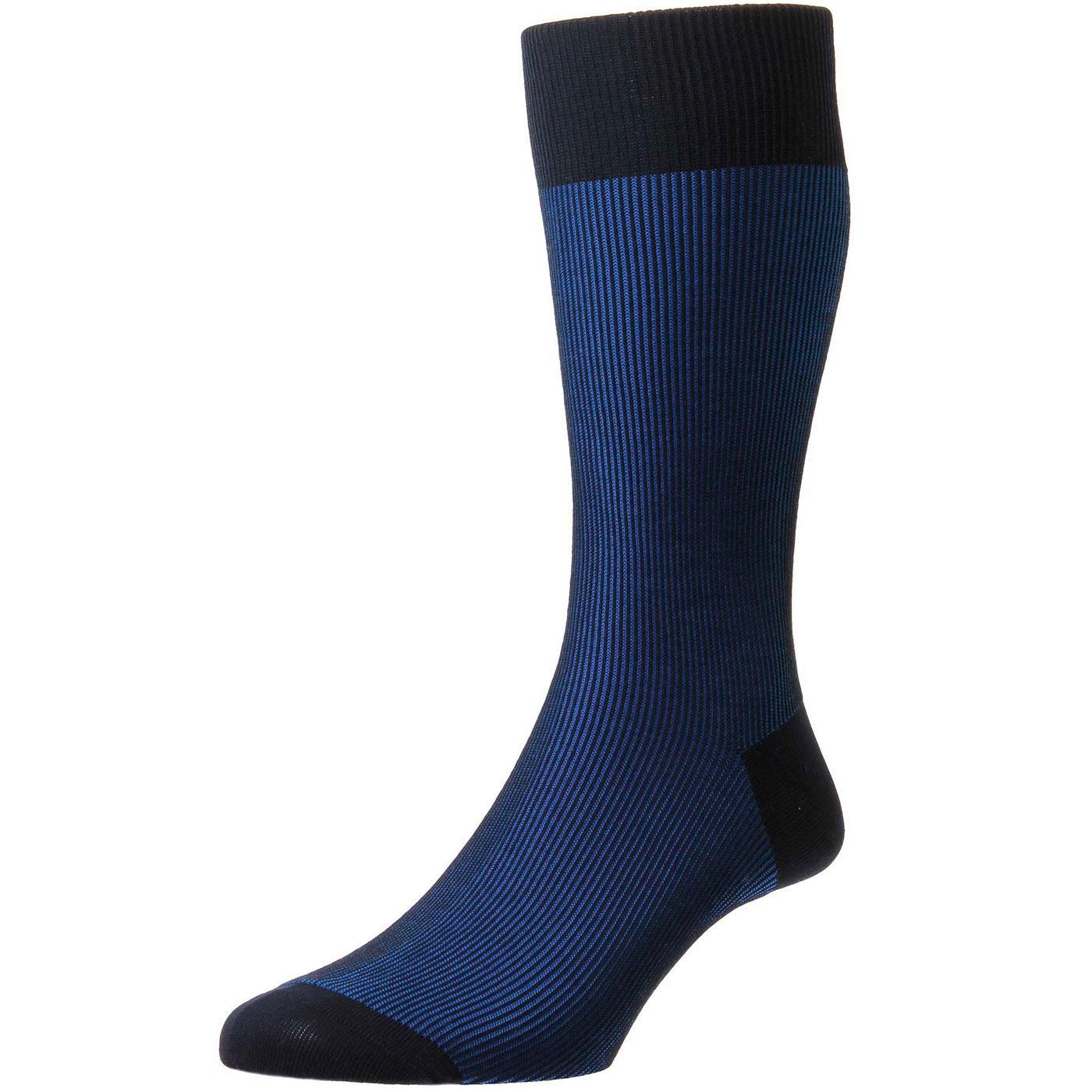 + Santos PANTHERELLA Tonic Shadow Rib Socks (Navy)