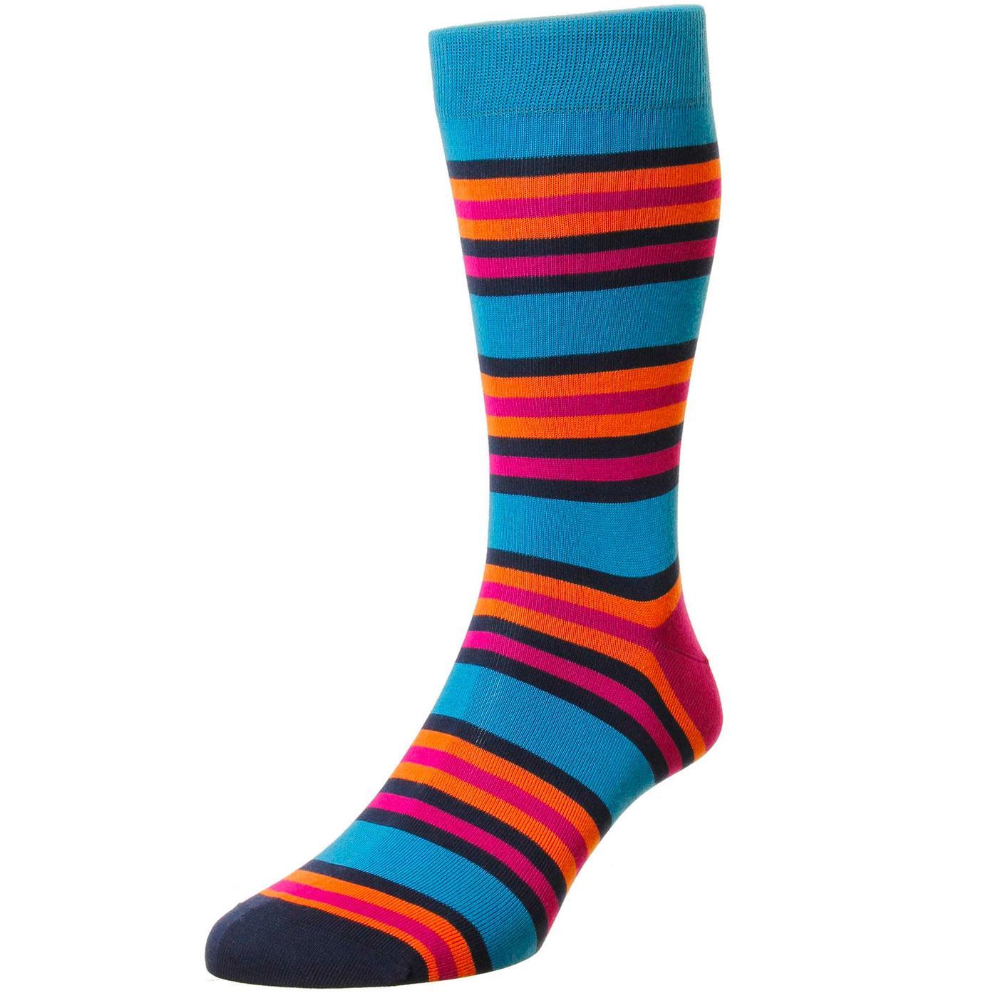 + Shibuya PANTHERELLA Retro Mod Stripe Socks (PB)