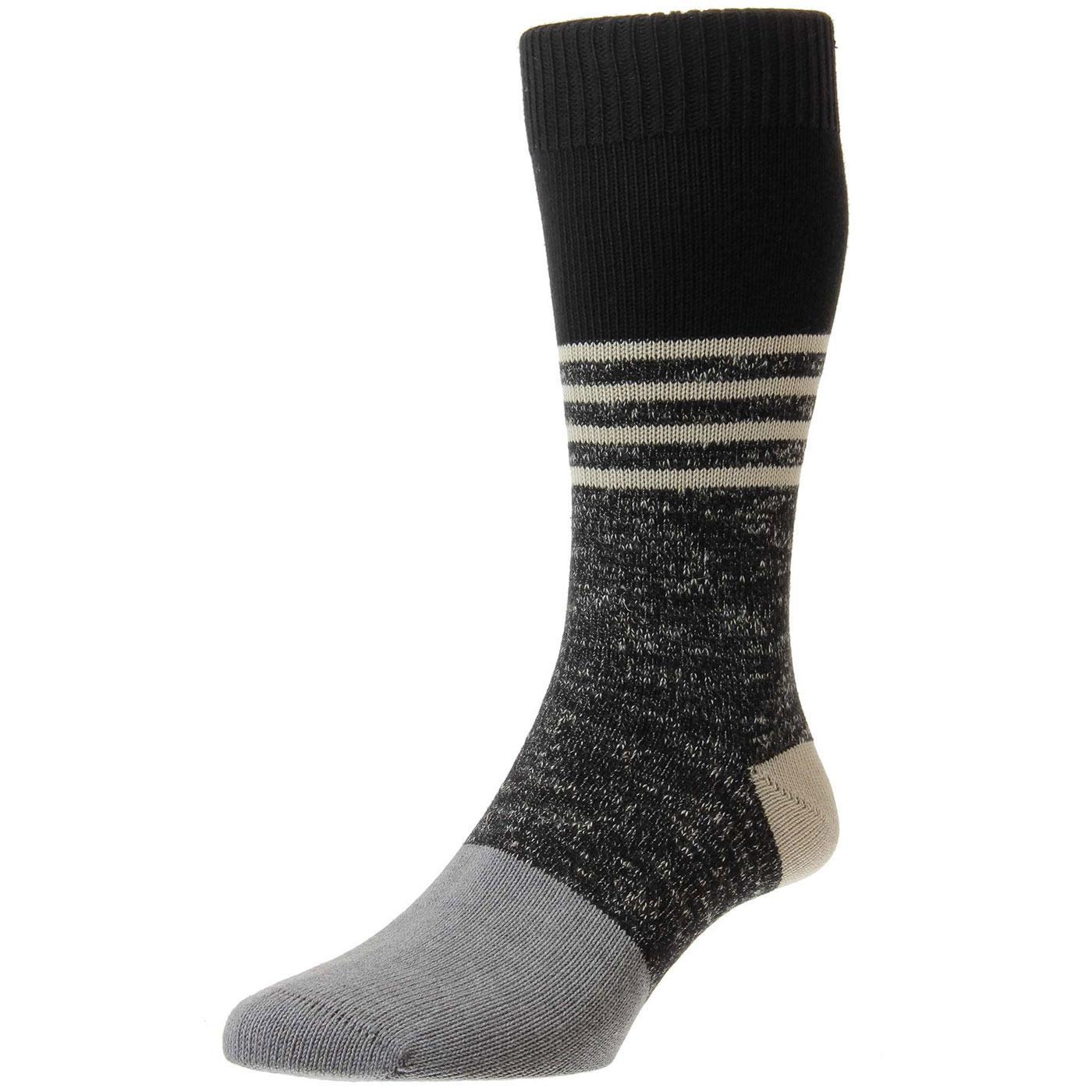 + Denny PANTHERELLA Men's Cashmere Socks in Black