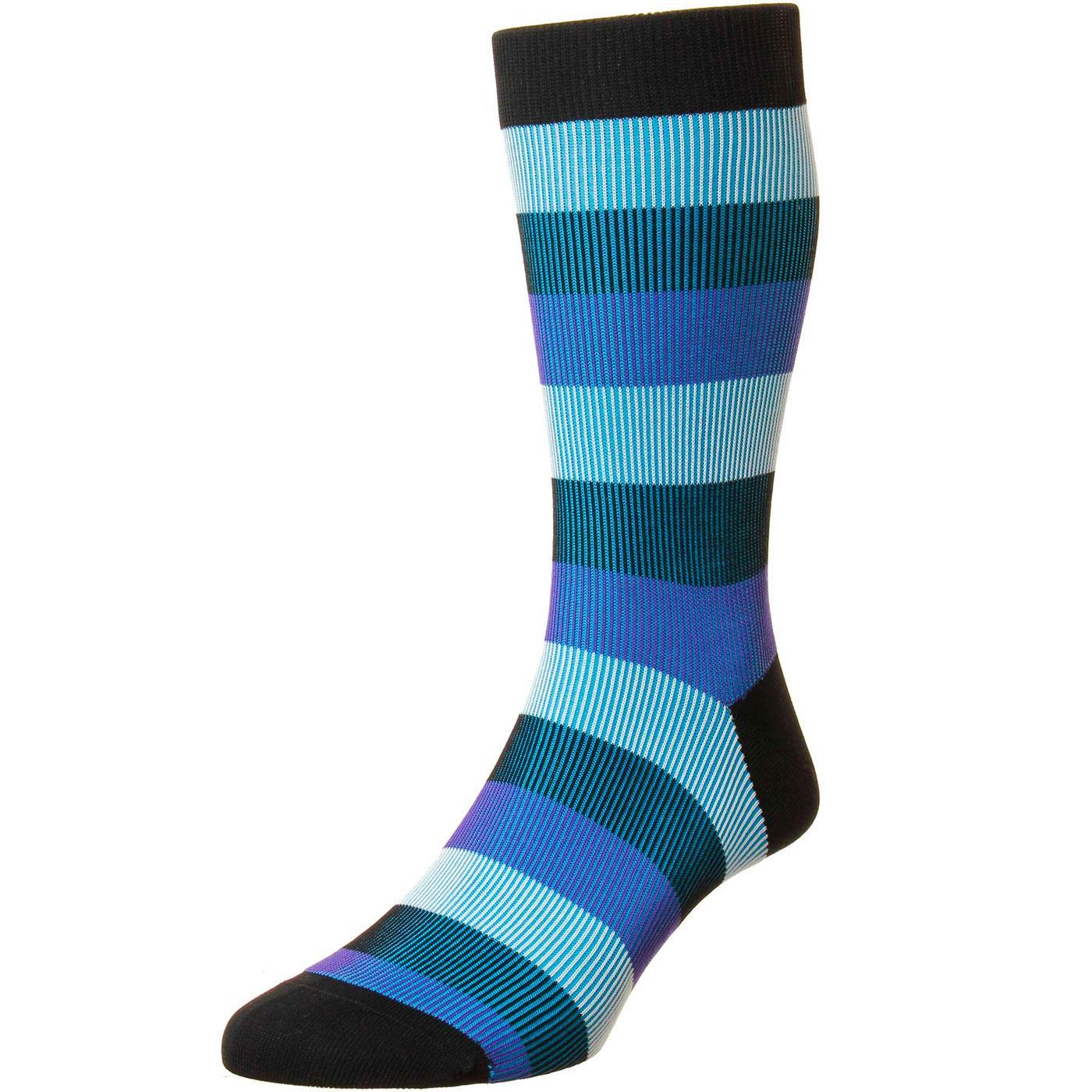 + Stirling PANTHERELLA Stripe Shadow Rib Socks (B)