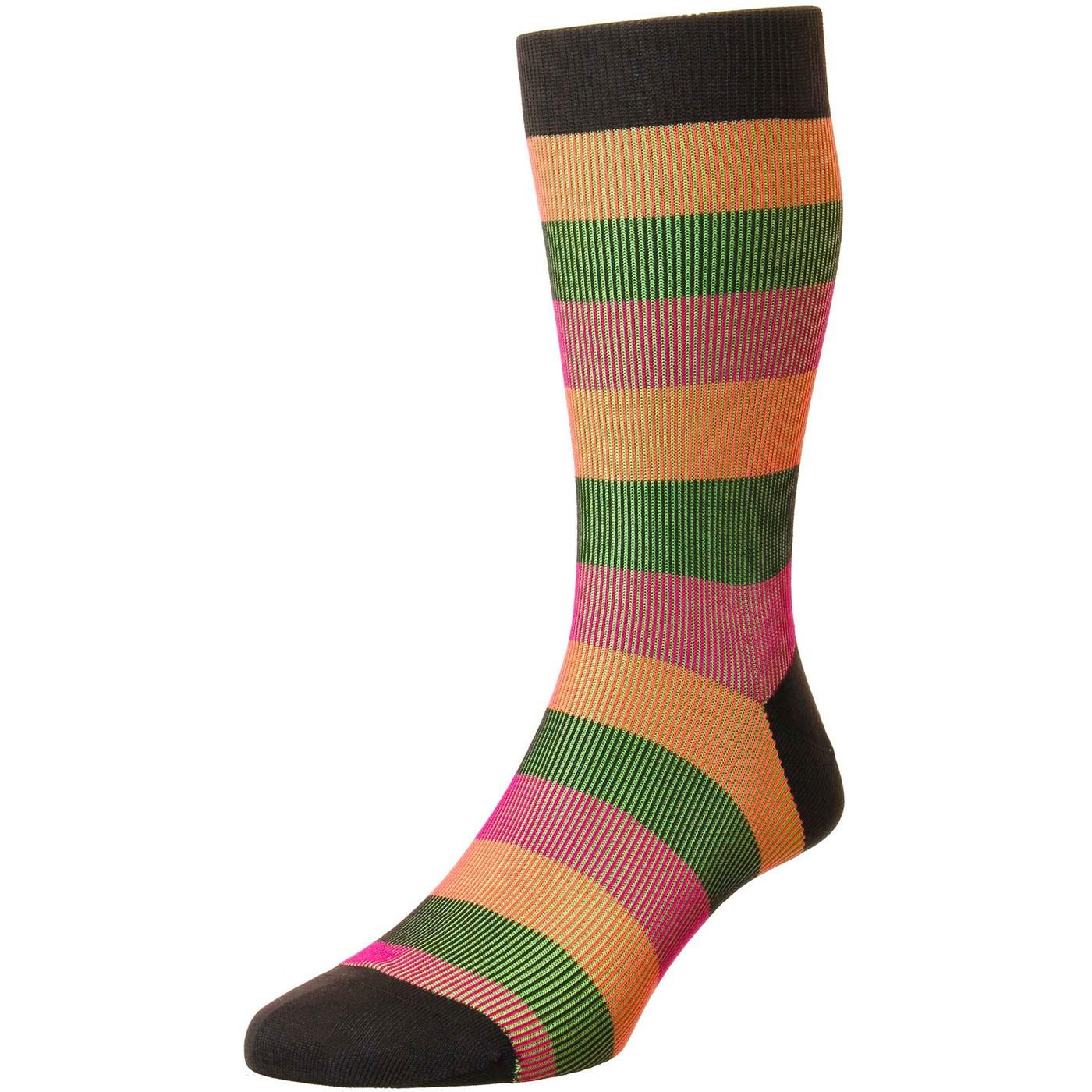 + Stirling PANTHERELLA Stripe Shadow Rib Socks (C)