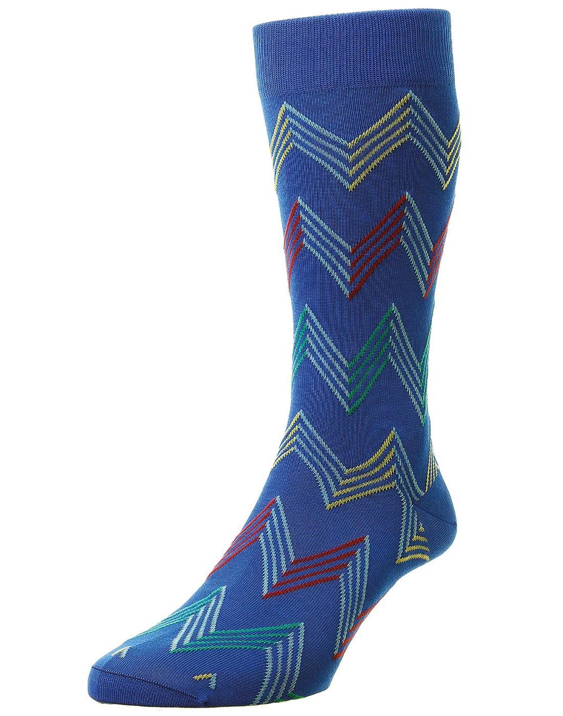 + Yasawa PANTHERELLA Men's Mod Zig Zag Socks B