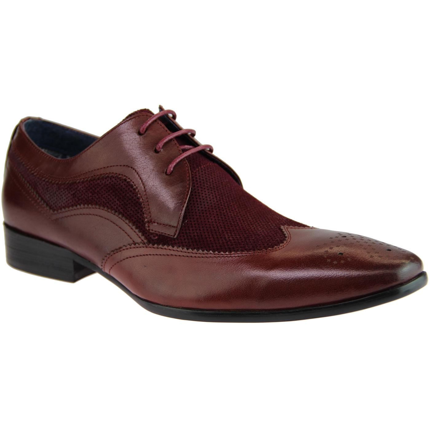 Chesney PAOLO VANDINI Retro Wingtip Brogues WINE