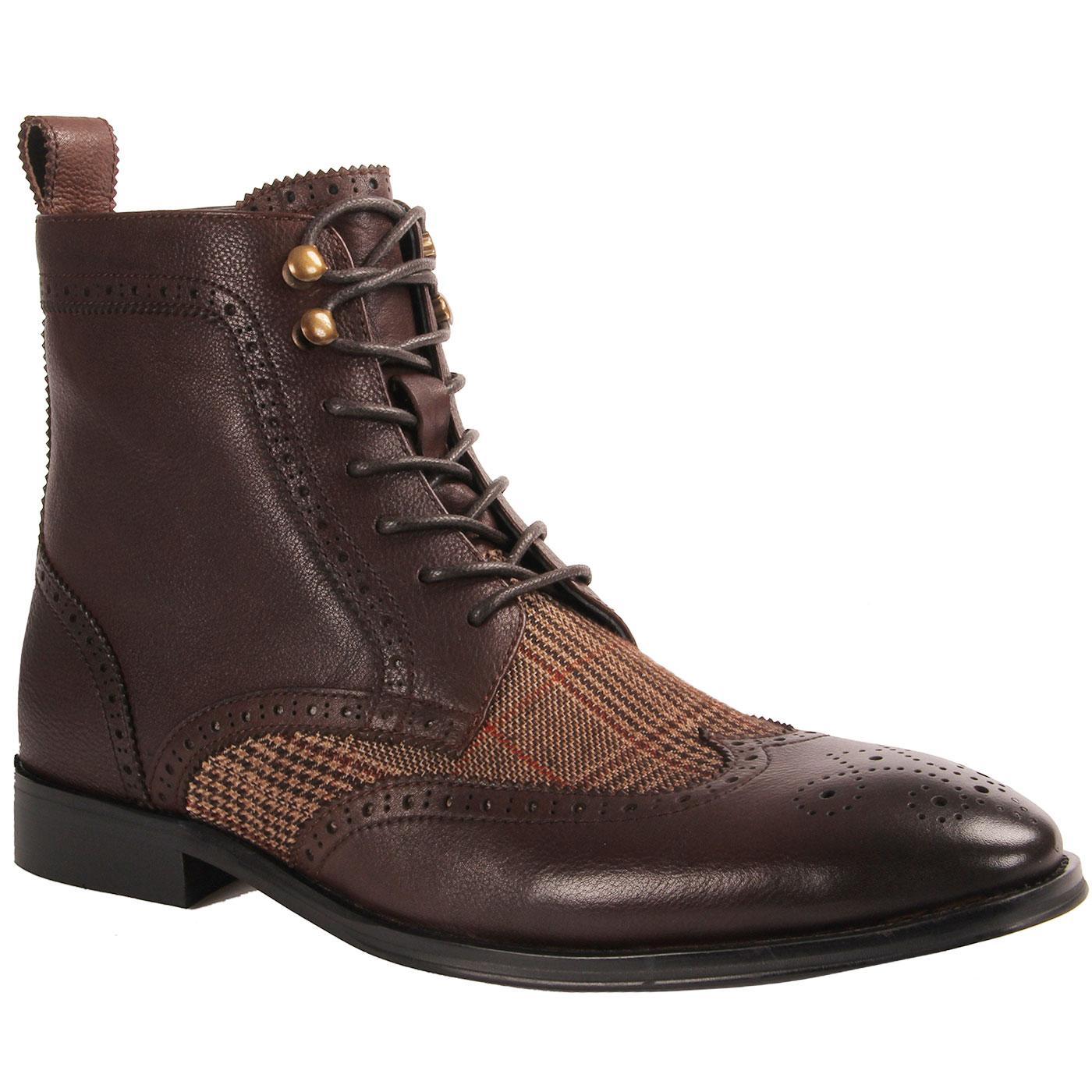 Ebenezer PAOLO VANDINI Mod POW Check Brogue Boots