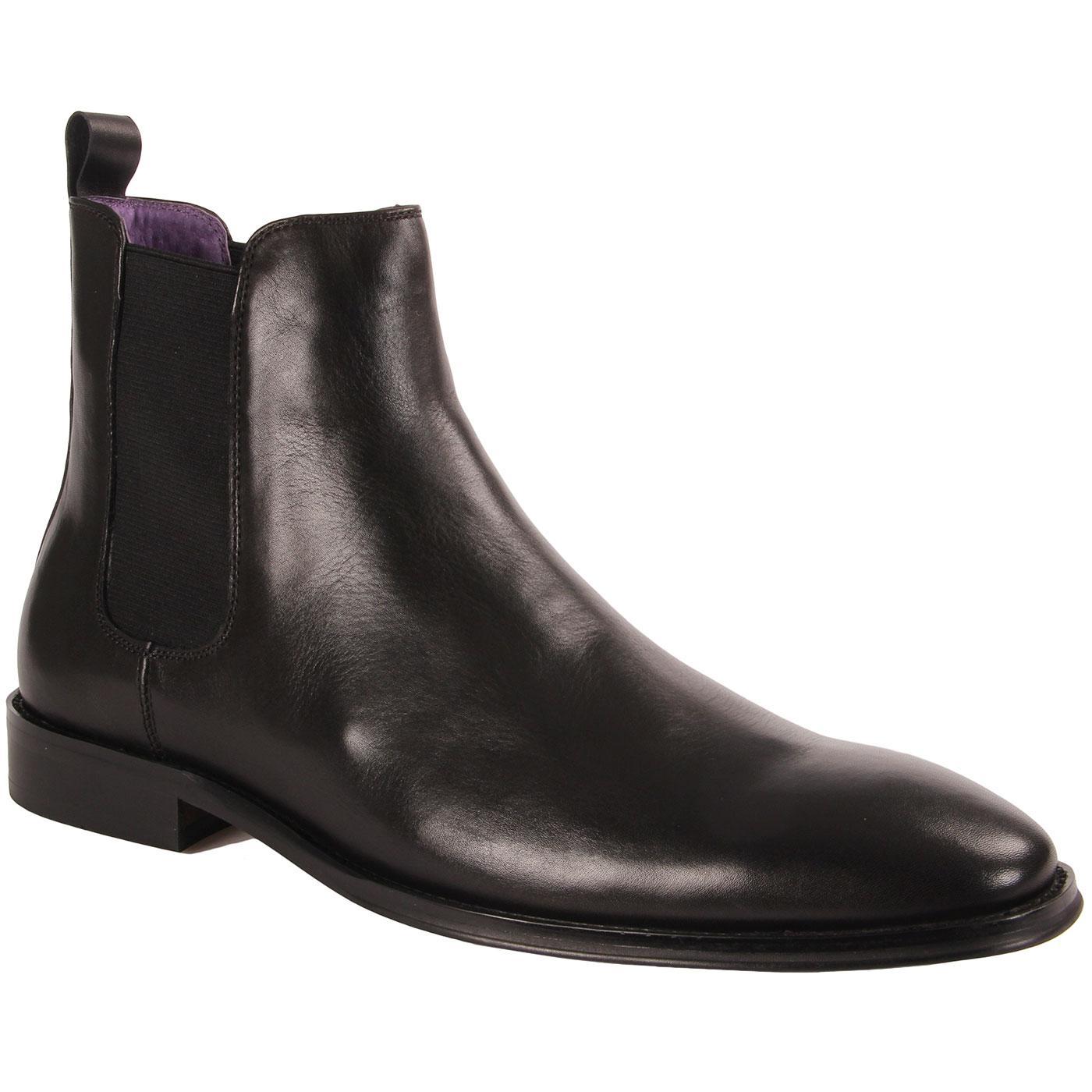 Edsel PAOLO VANDINI 1960s Mod Chelsea Boots BLACK