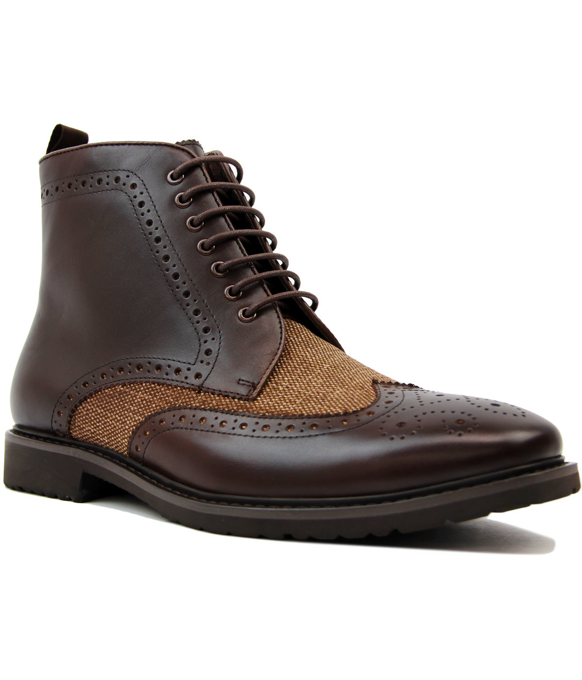 Noonbrough PAOLO VANDINI Mod Donegal Brogue Boots