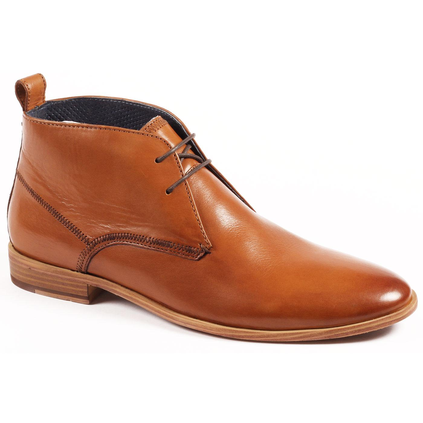 Player PAOLO VANDINI Mod Leather Chukka Boots TAN