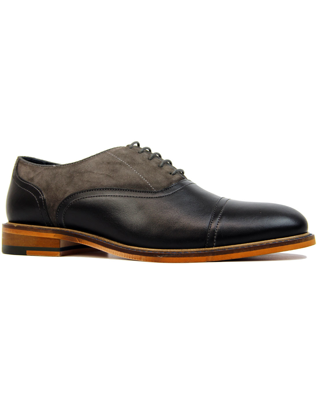 Ryder PAOLO VANDINI Suede & Leather Saddle Shoes B