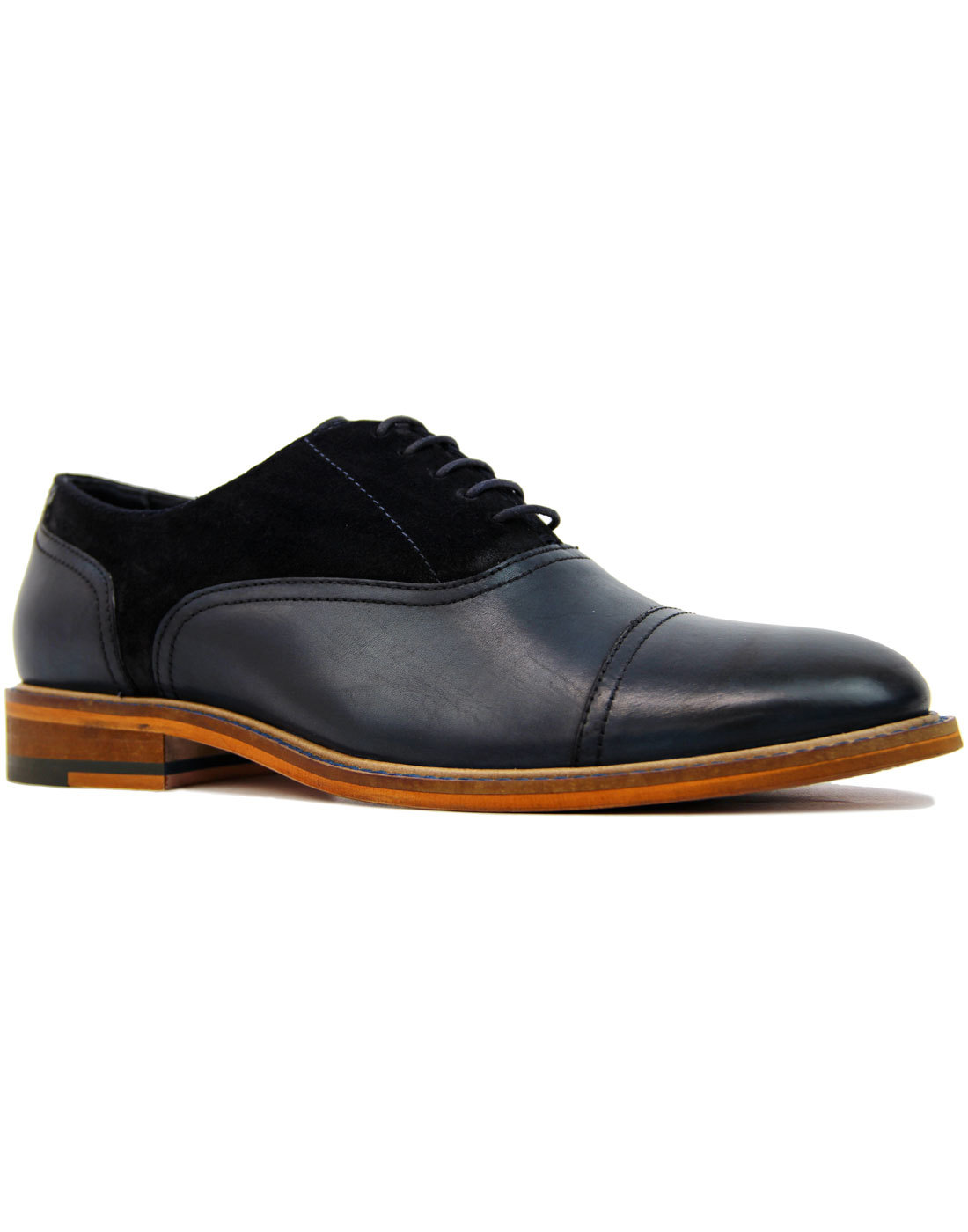 Ryder PAOLO VANDINI Suede & Leather Saddle Shoes N