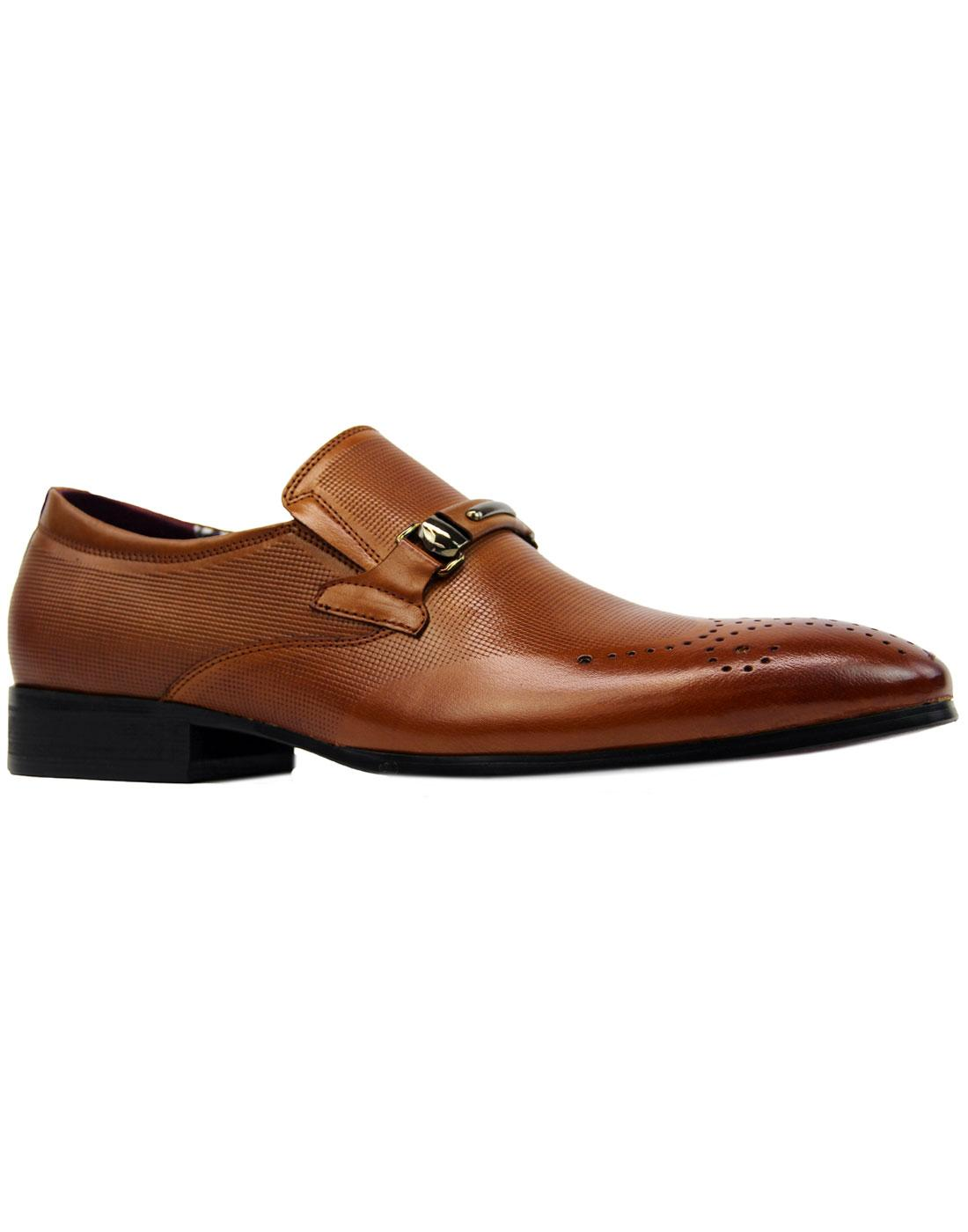 Sarell PAOLO VANDINI Scotch Grain Buckle Loafers T