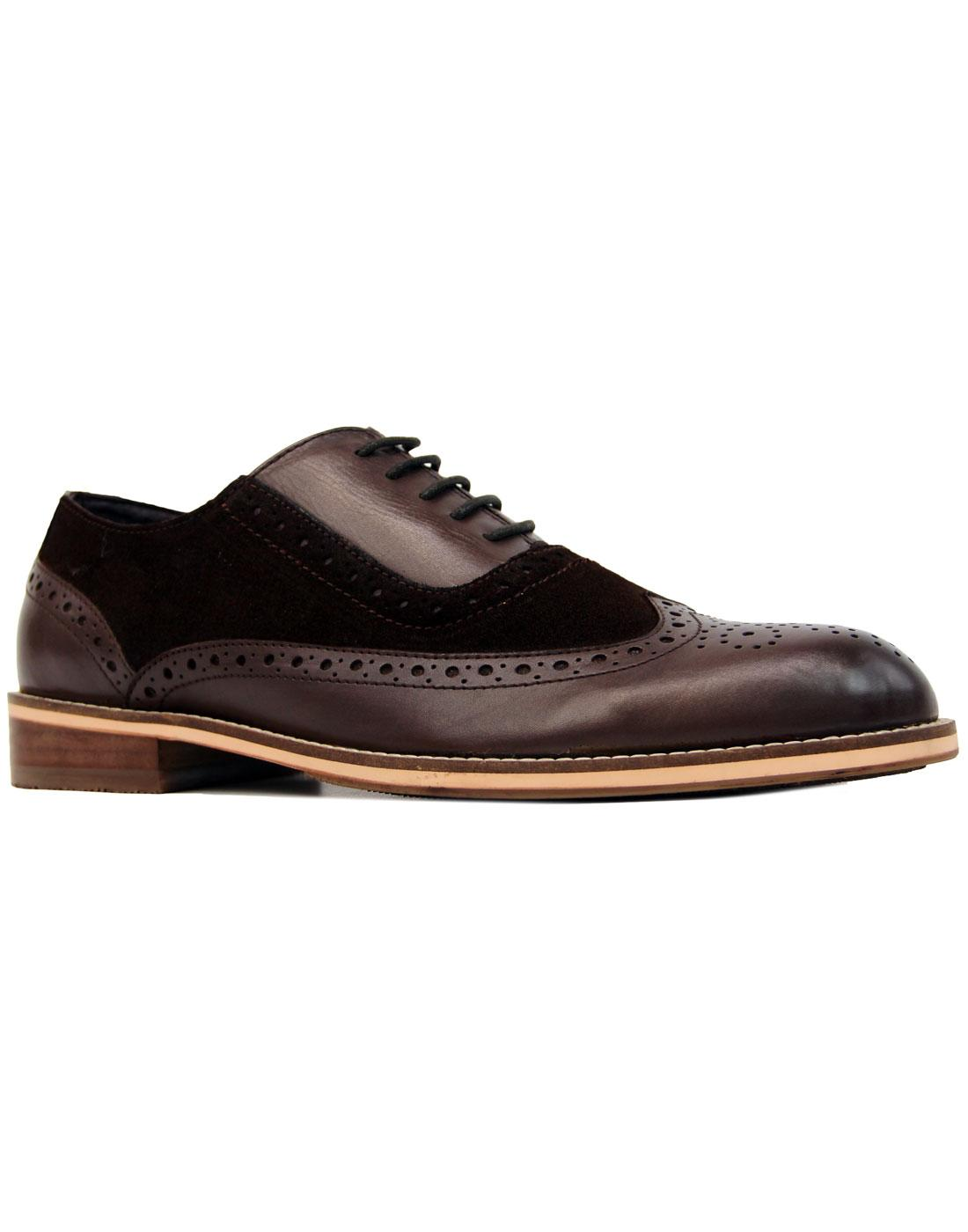 Saxby PAOLO VANDINI Mod Oxford Saddle Brogues (B)