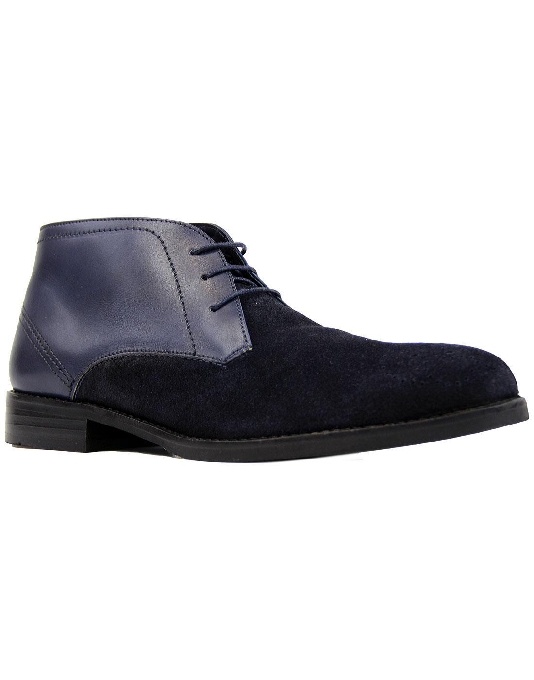 Sorley PAOLO VANDINI 60s Mod Brogue Desert Boots N