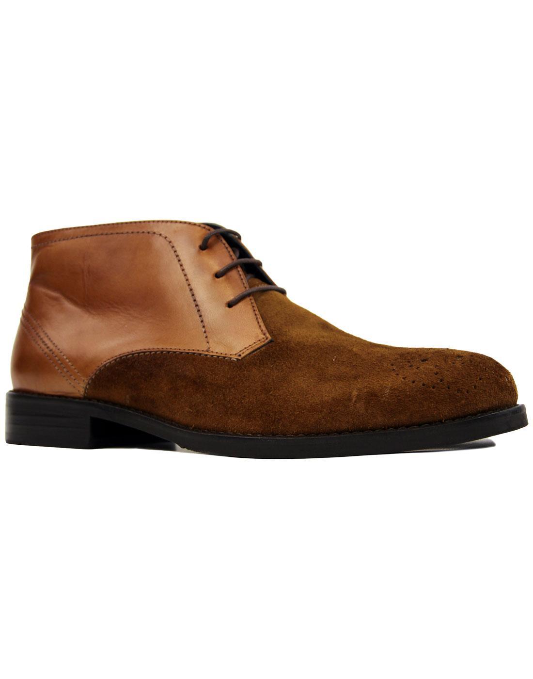 Sorley PAOLO VANDINI 60s Mod Brogue Desert Boots T