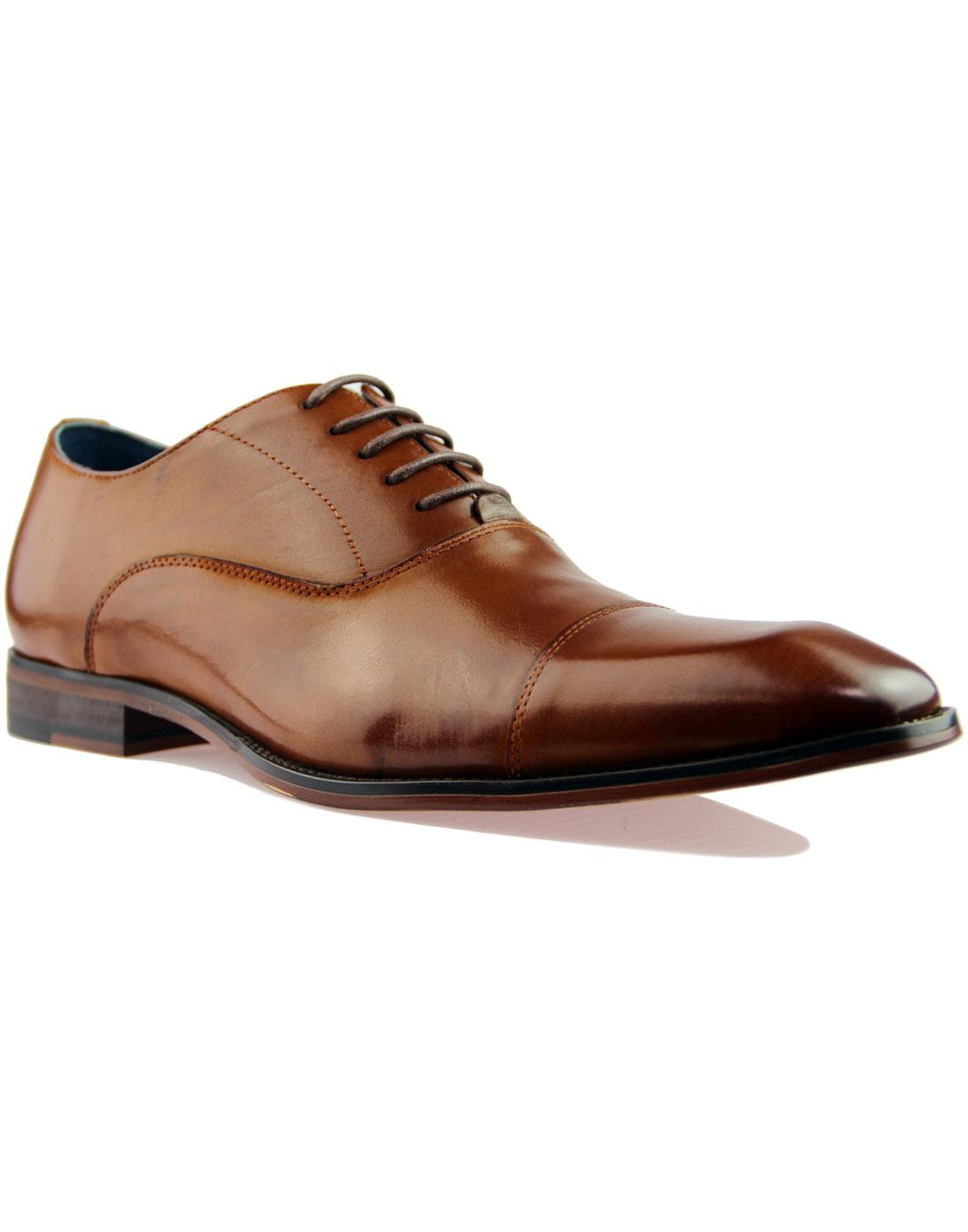 Thistle PAOLO VANDINI 60s Mod Oxford Toe Cap Shoes