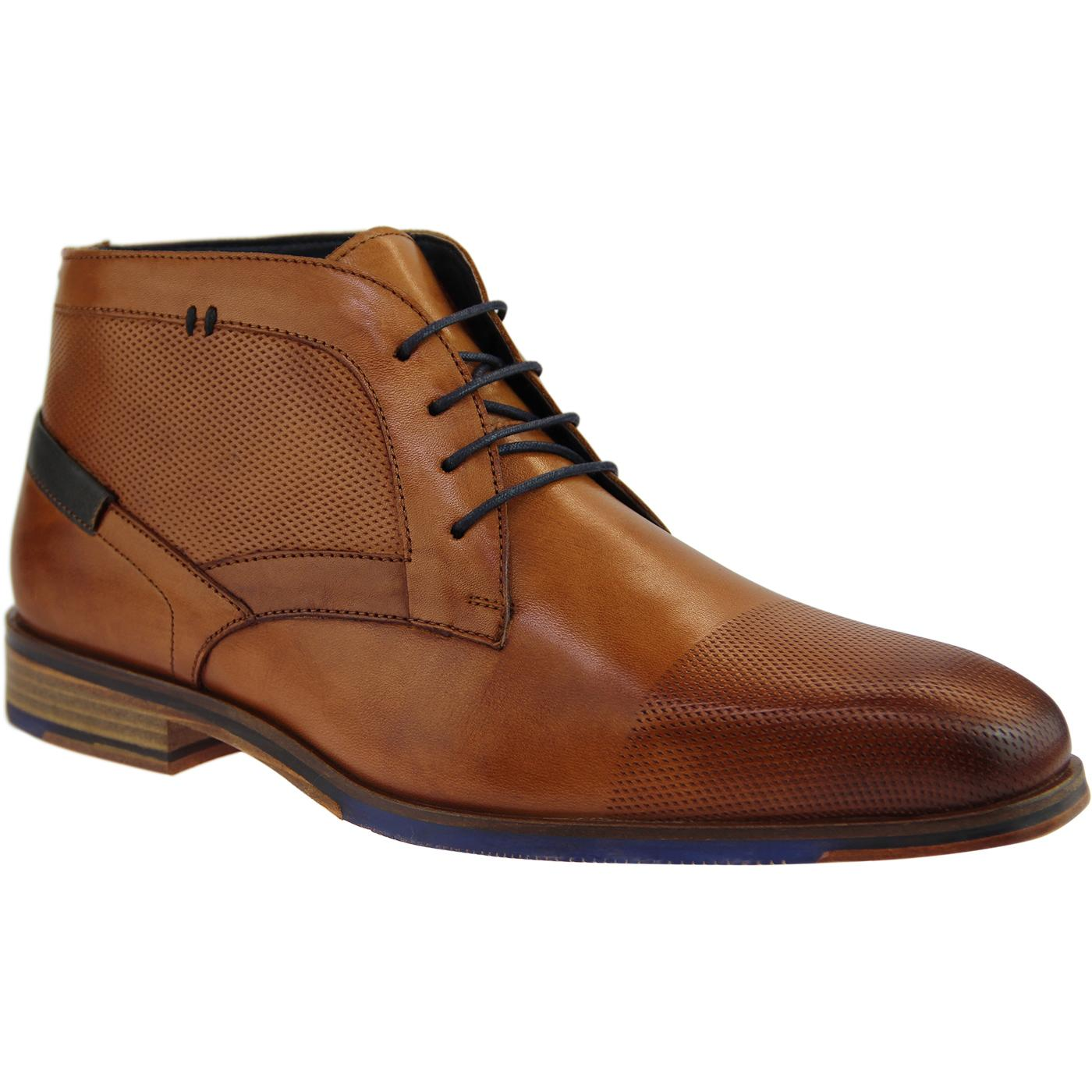 Dalton PAOLO VANDINI Mod Textured Worker Boots TAN