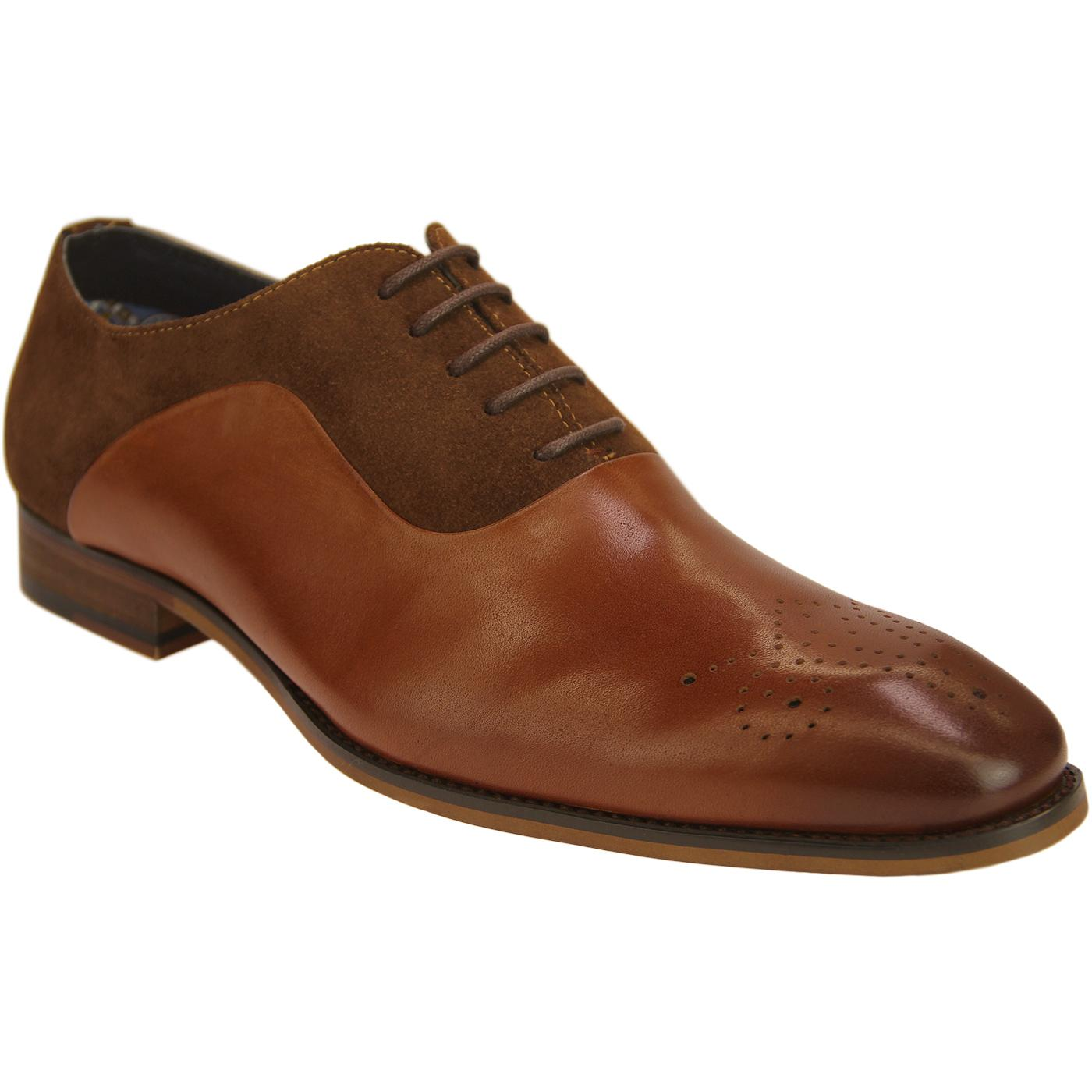 David PAOLO VANDINI Suede & Leather Oxford Shoes T