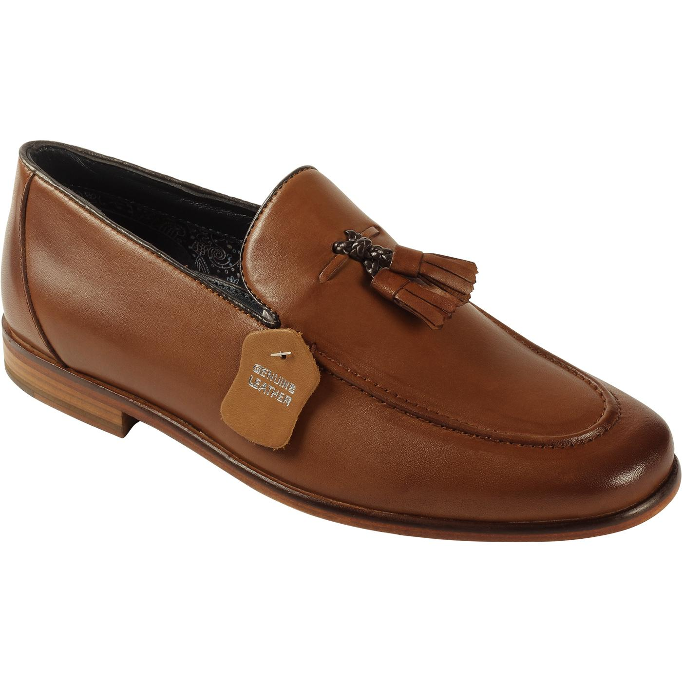 Enzo PAOLO VANDINI Men's Mod Tassel Loafers (Tan)