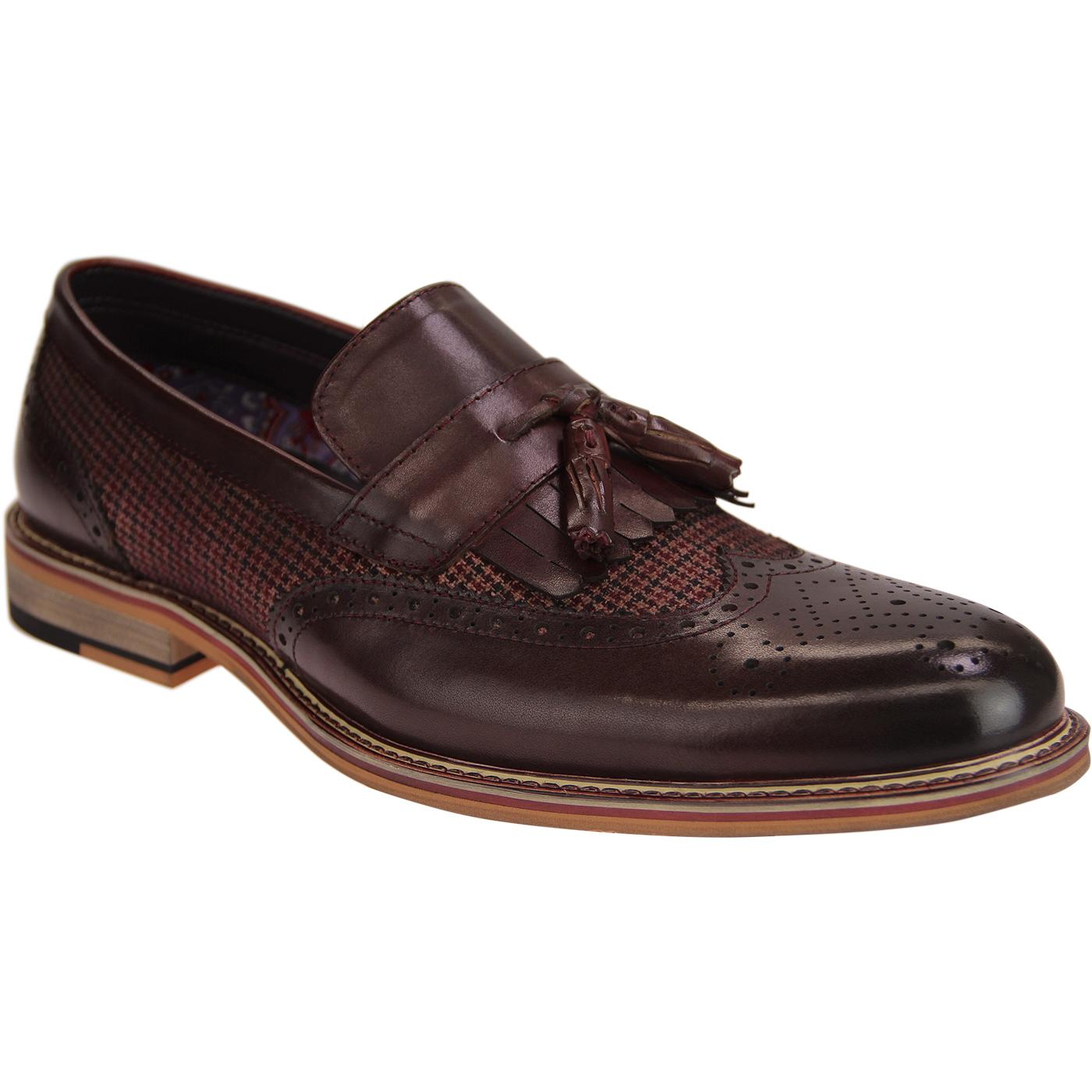 Denali PAOLO VANDINI Mod Dogtooth Tassel Loafers