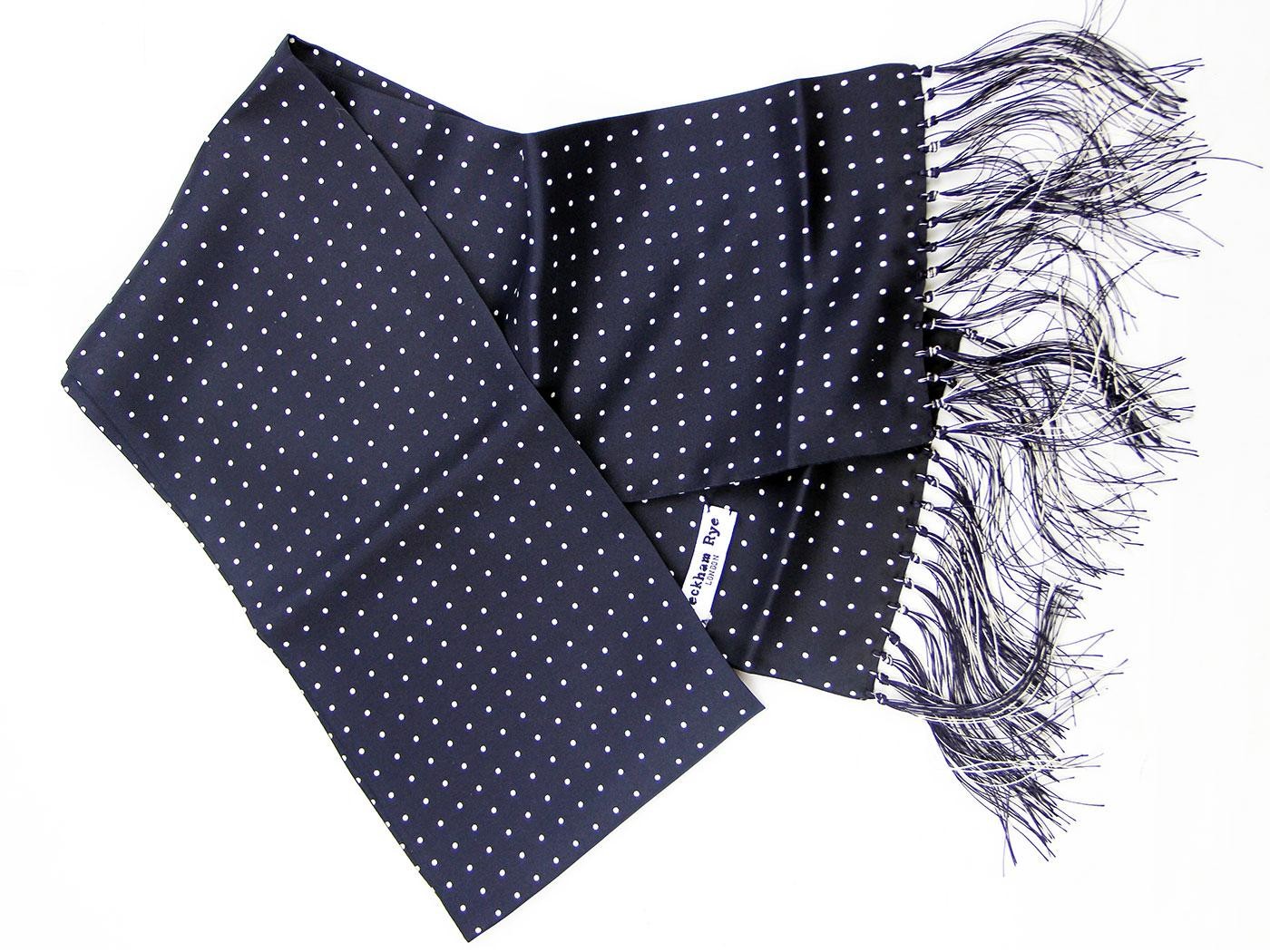 London Spot PECKHAM RYE Retro Mod Silk Scarf (N/W)