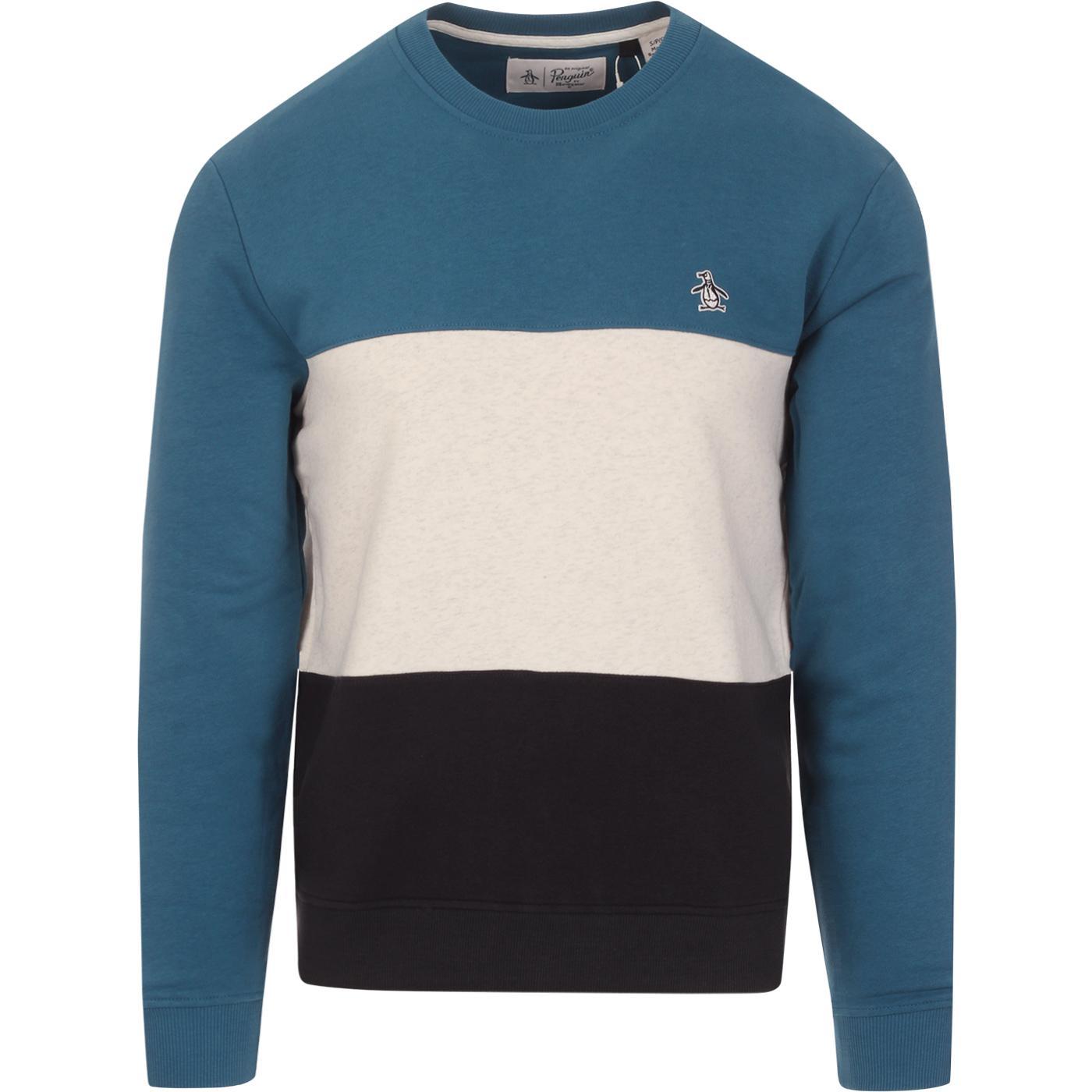 ORIGINAL PENGUIN Retro Colour Block Sweatshirt