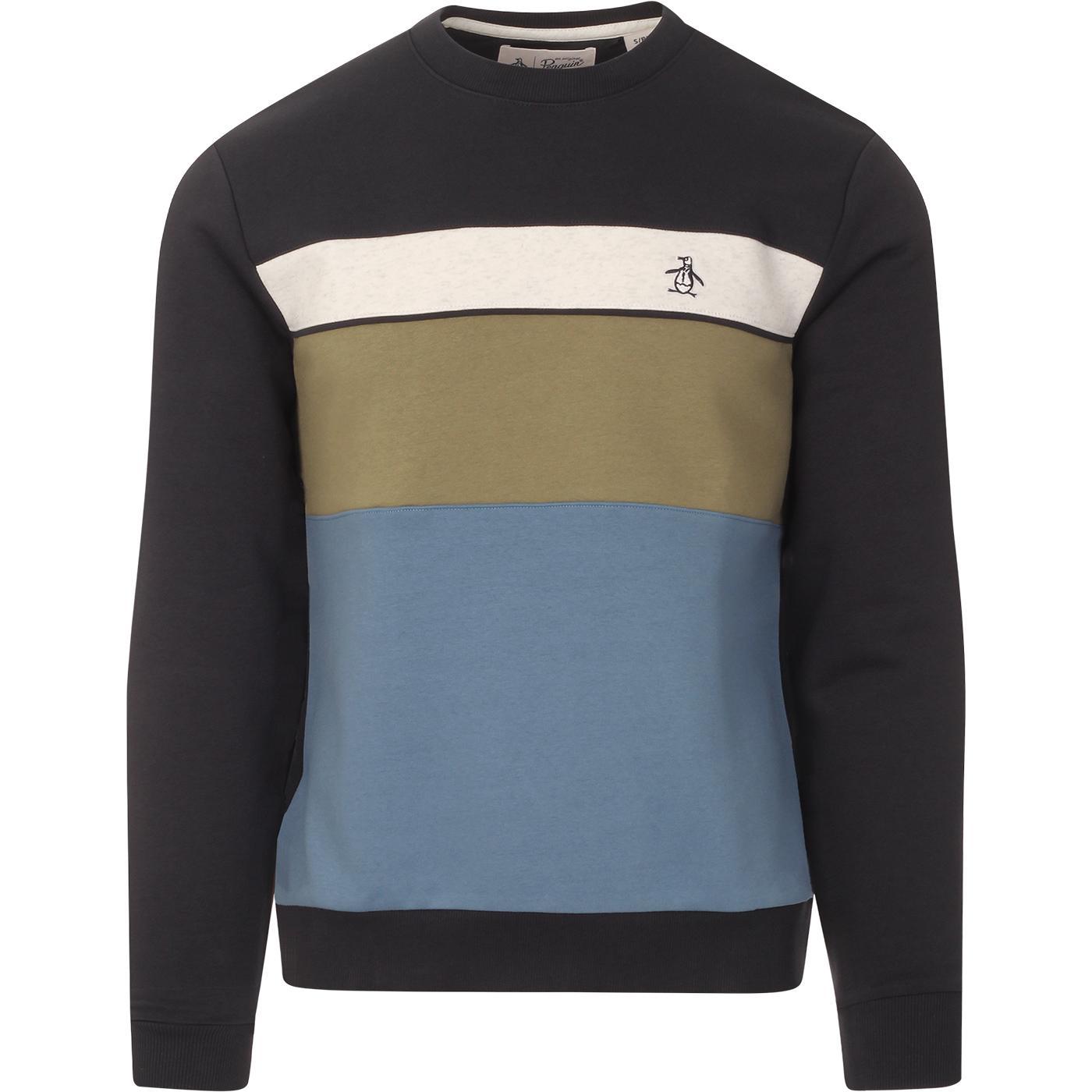 ORIGINAL PENGUIN Retro Block Panel Sweatshirt (DS)
