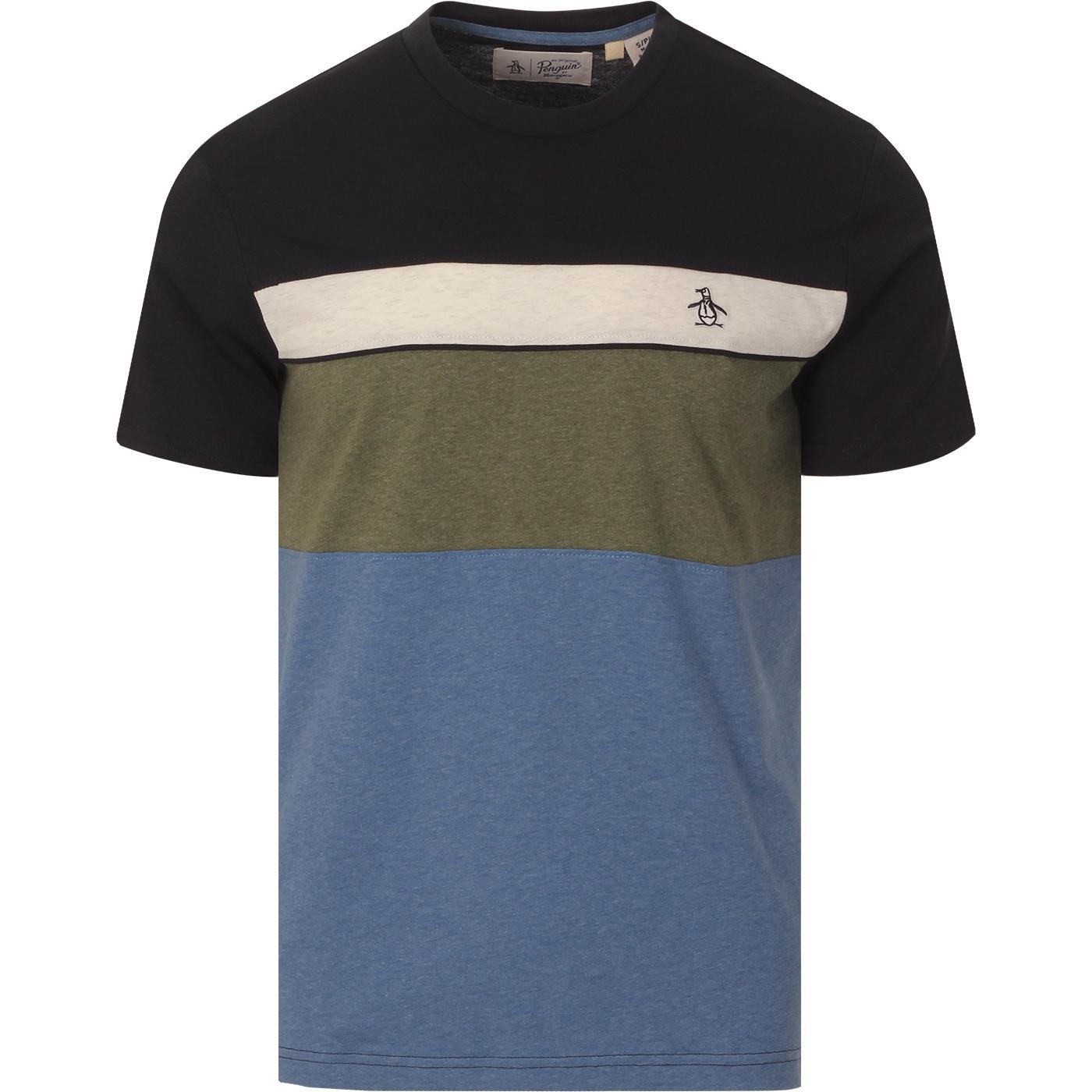 ORIGINAL PENGUIN Retro Block Panel T-shirt (DS)
