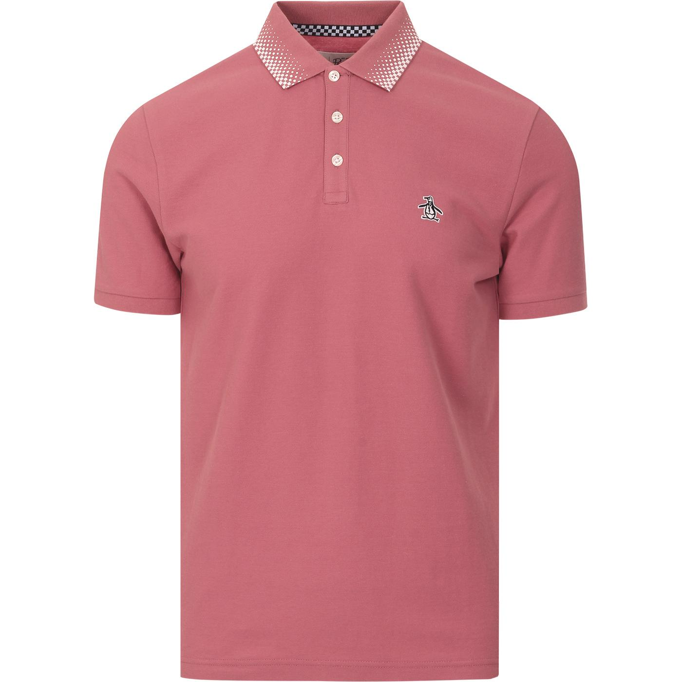 ORIGINAL PENGUIN Mod Checker Tipped Polo Top (DR)