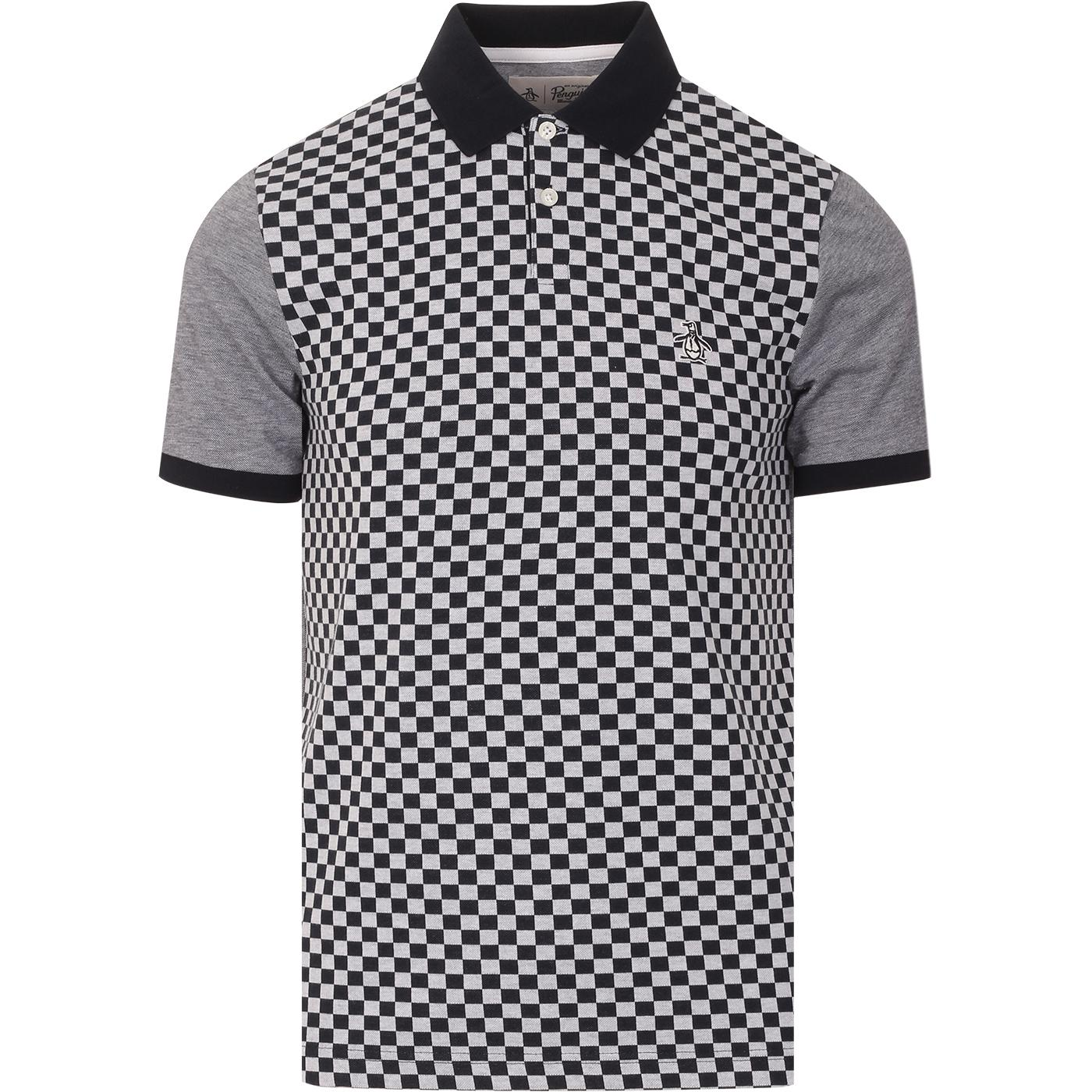 ORIGINAL PENGUIN Mod Ska Checker Front Polo (DS)