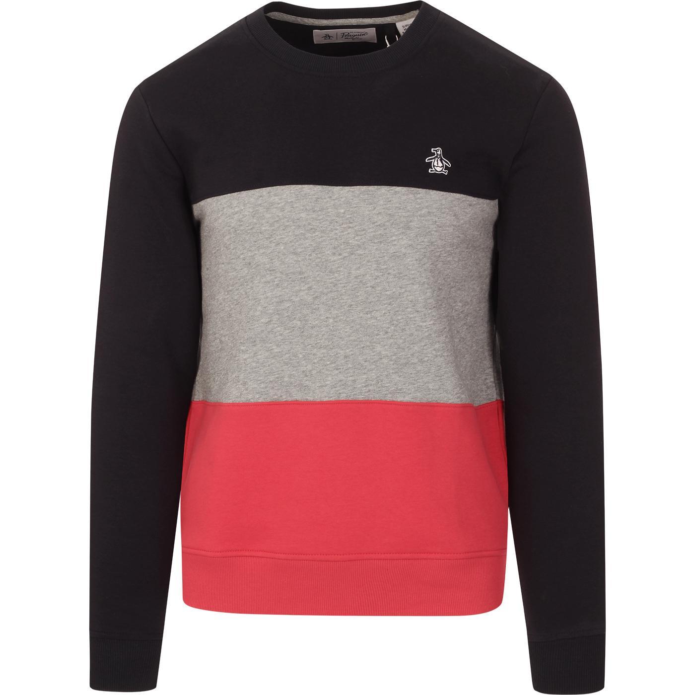 ORIGINAL PENGUIN Retro Colour Block Sweatshirt DS