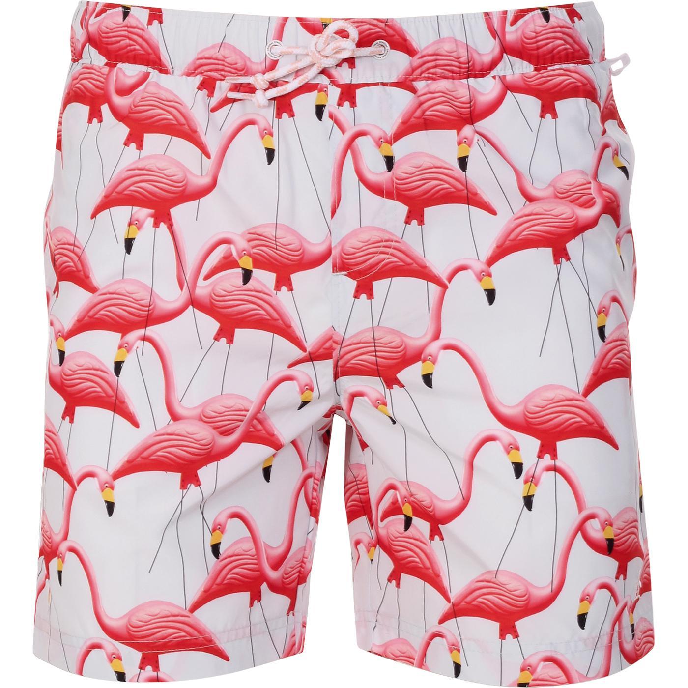 ORIGINAL PENGUIN Retro Flamingo Swim Shorts