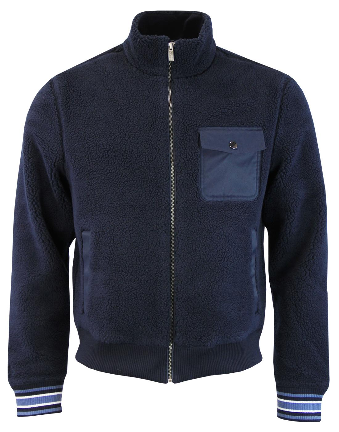 ORIGINAL PENGUIN Retro Teddy Fleece Bomber Jacket