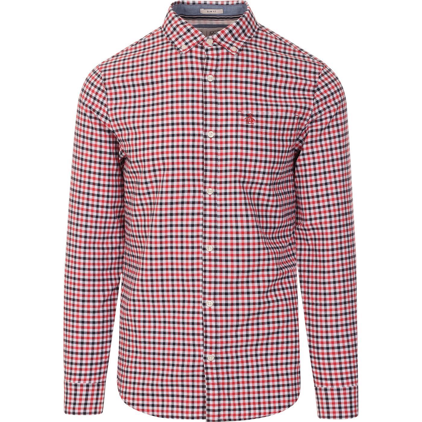 ORIGINAL PENGUIN Mod BD Oxford Gingham Shirt (CR)