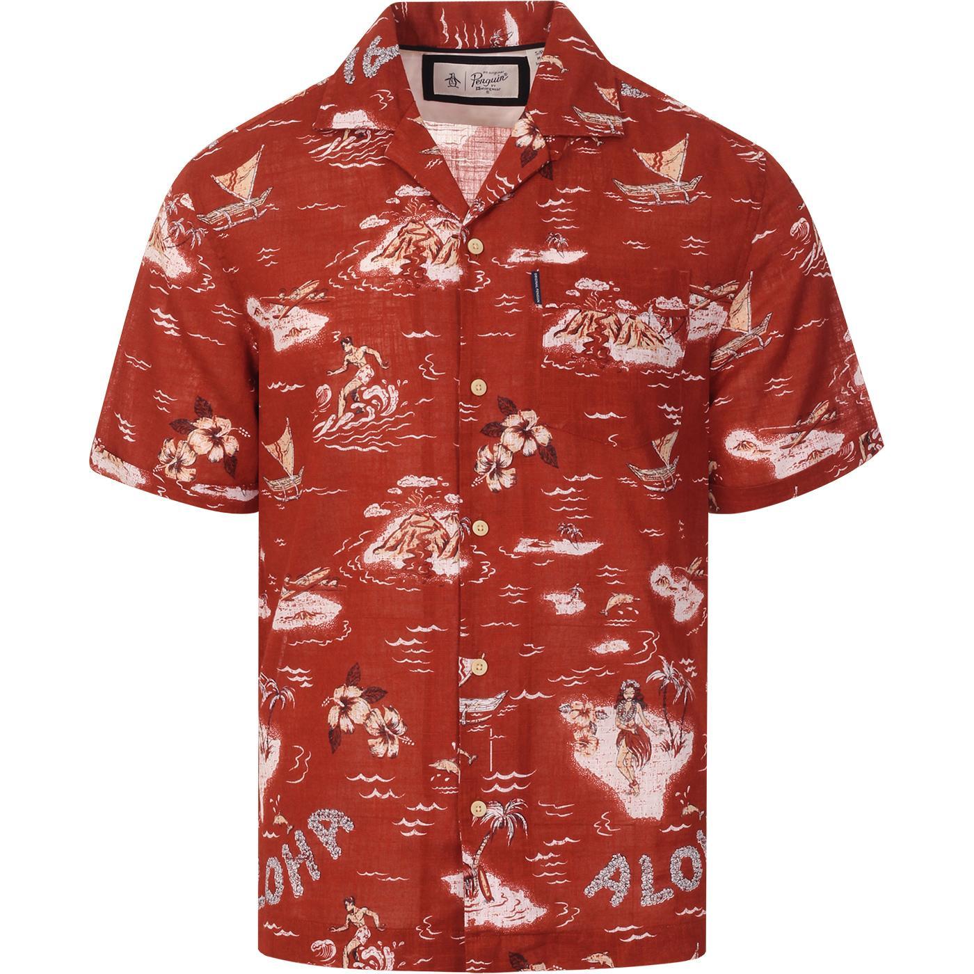 Aloha ORIGINAL PENGUIN 70s Cuban Collar Shirt (RO)