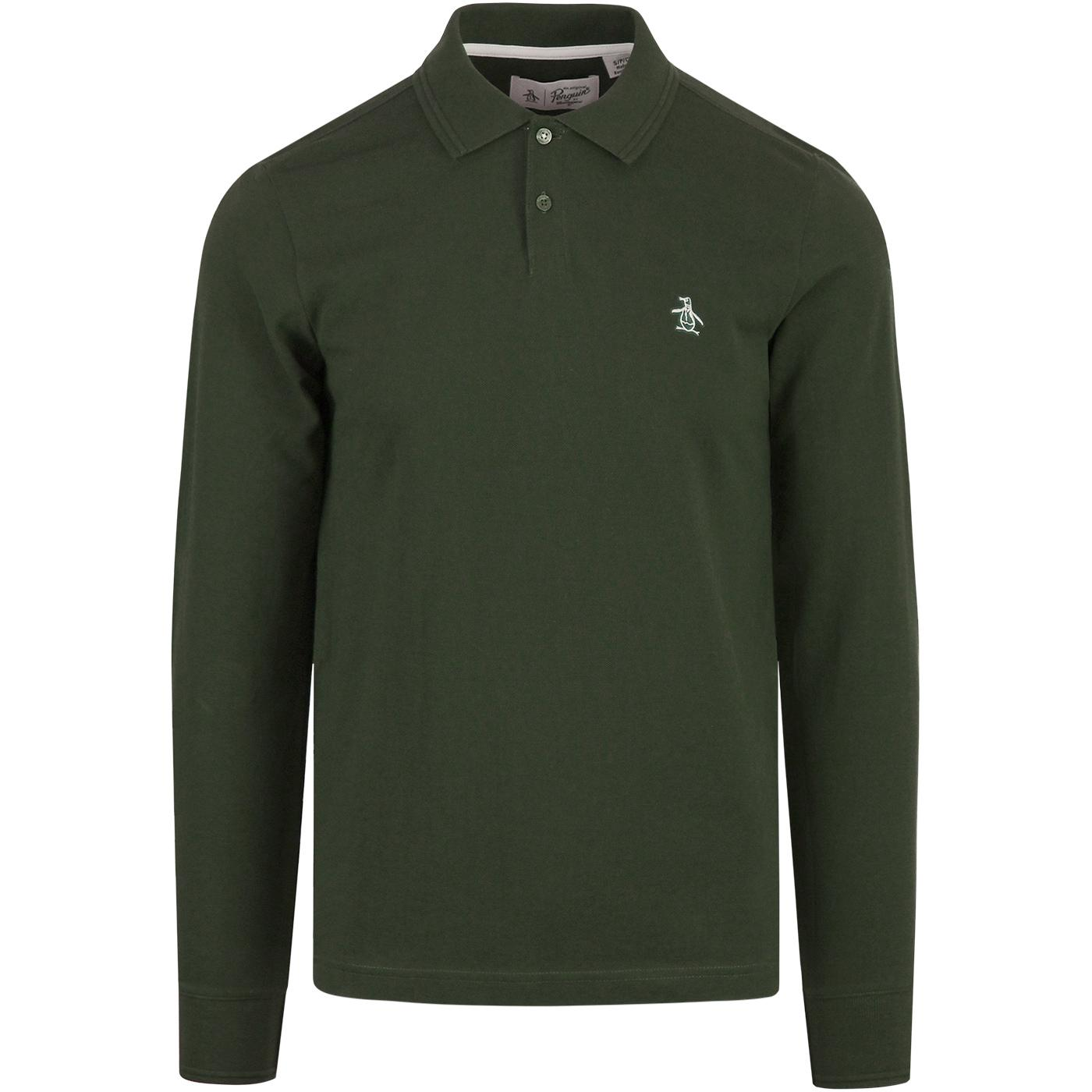ORIGINAL PENGUIN LS Raised Rib Pique Polo Shirt DS