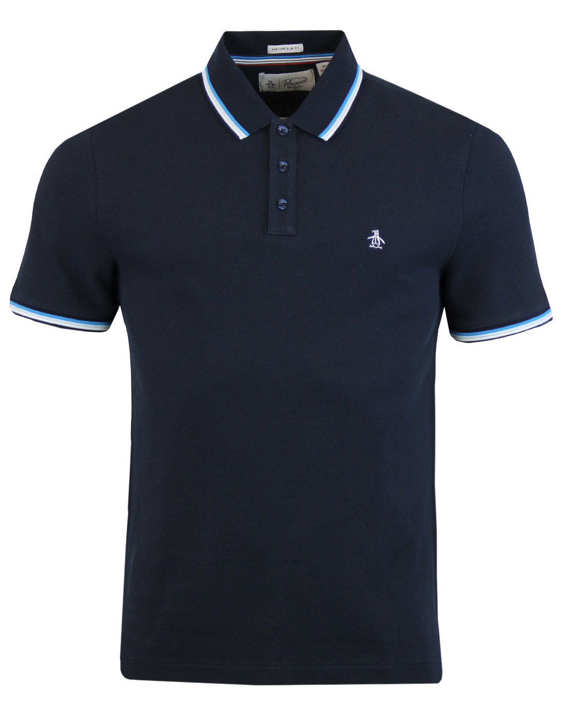 Tipped Athletic ORIGINAL PENGUIN Retro Mod Polo