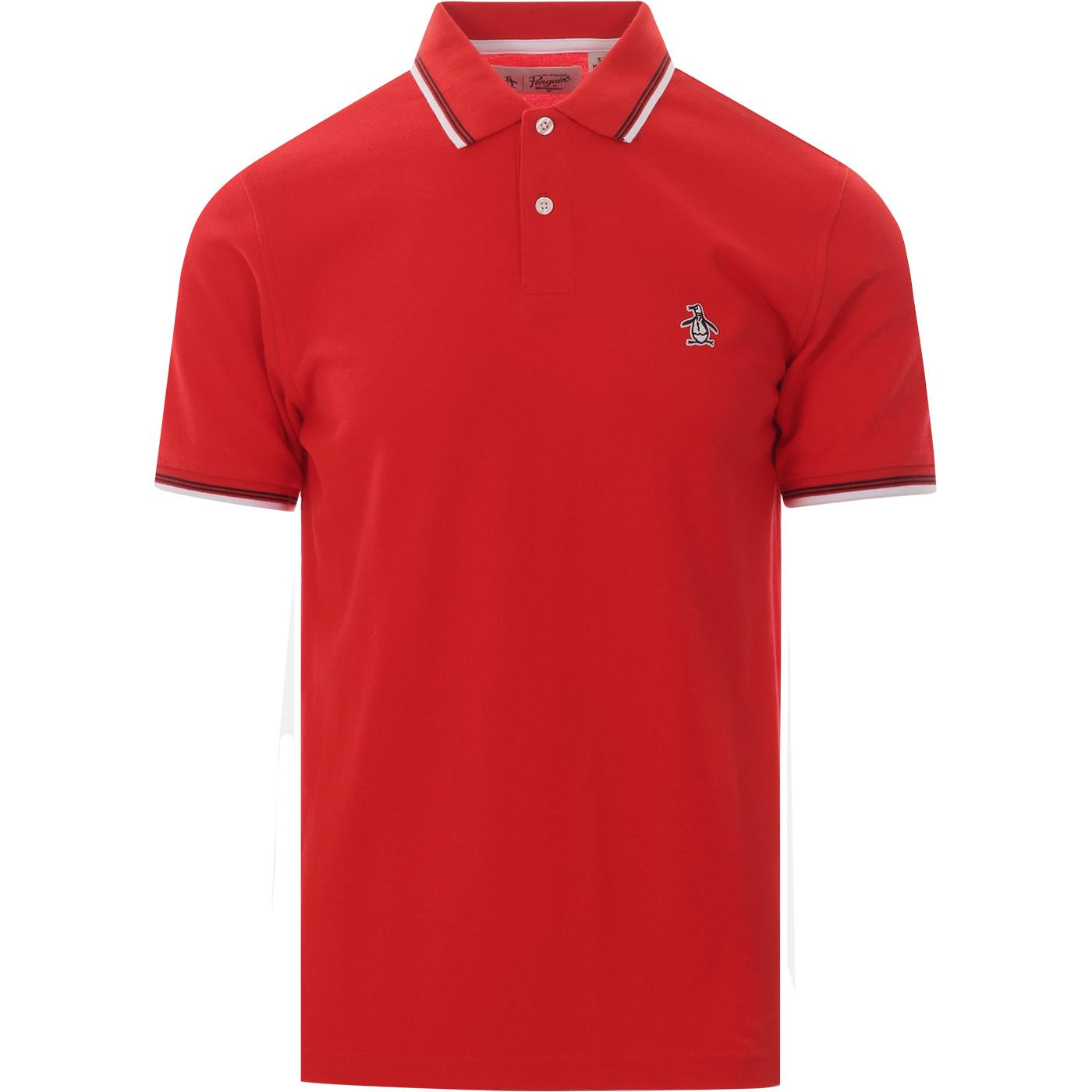 Sticker Pete ORIGINAL PENGUIN Pique Polo Top (Red)