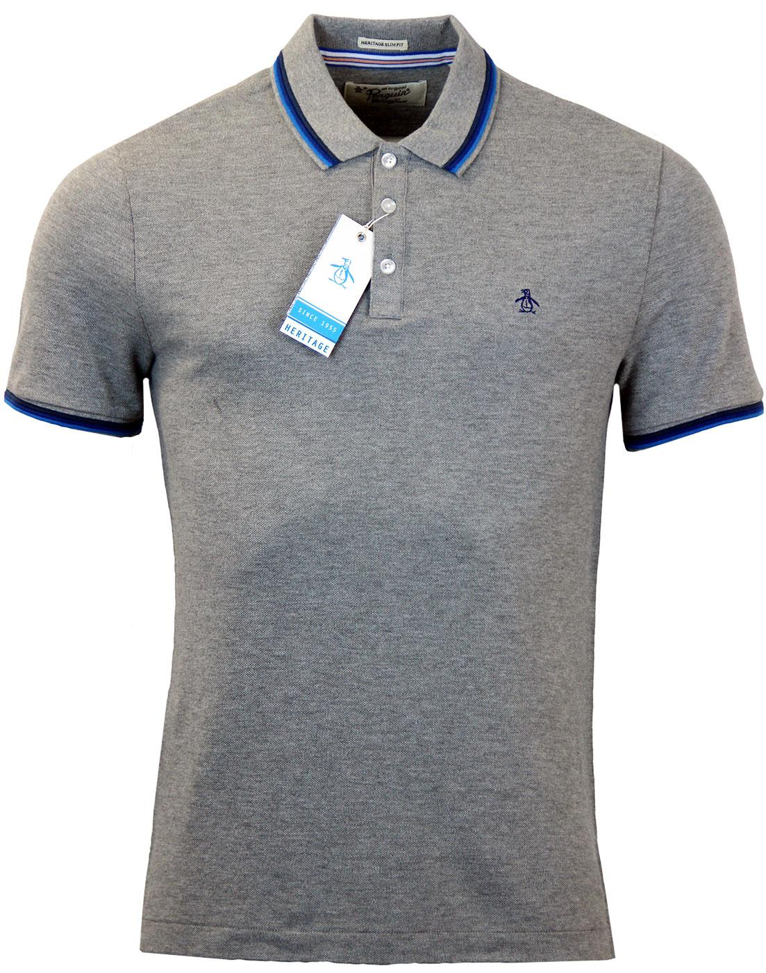Volley ORIGINAL PENGUIN Retro Mod 60s Tipped Polo