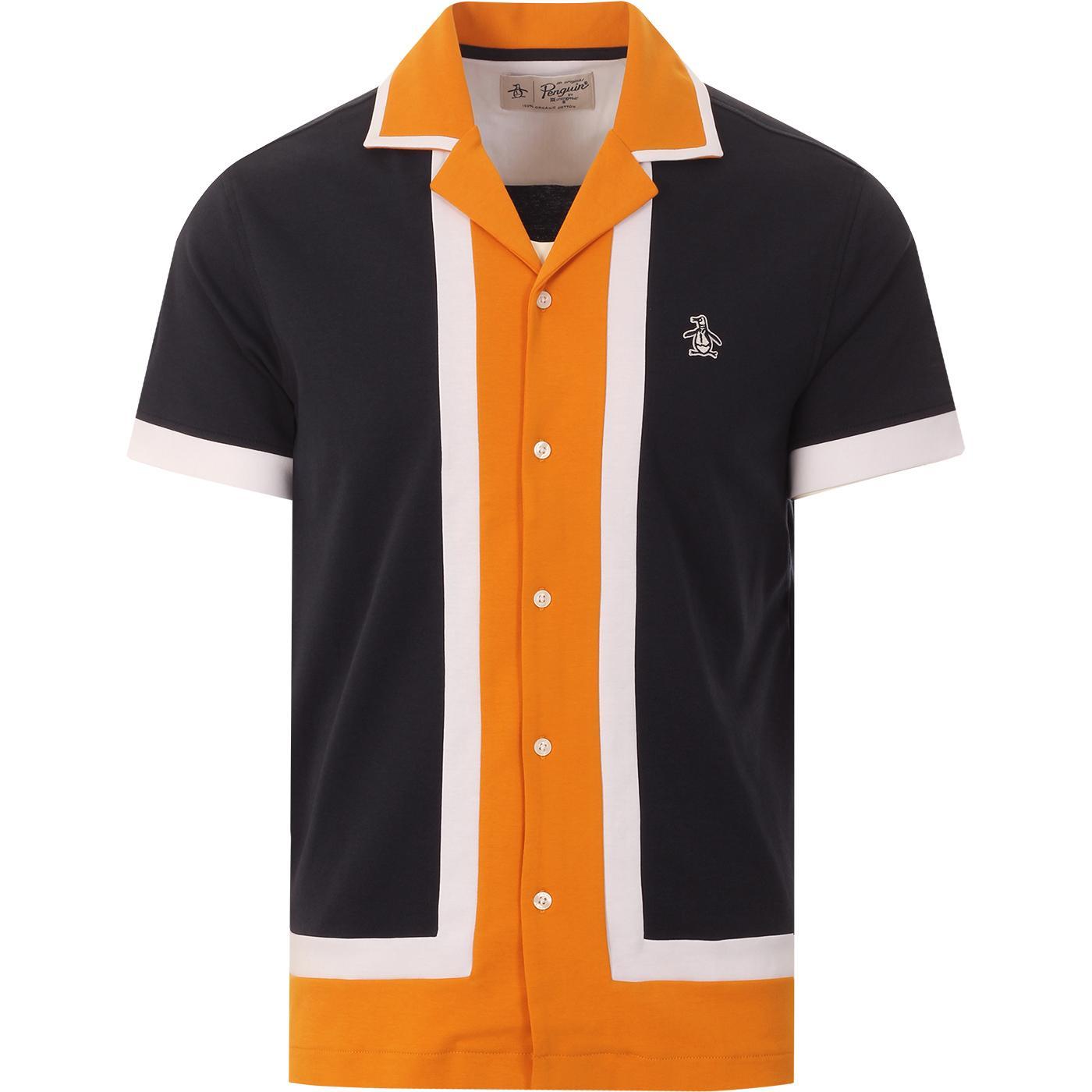 ORIGINAL PENGUIN Retro 50s Americana Bowling Shirt
