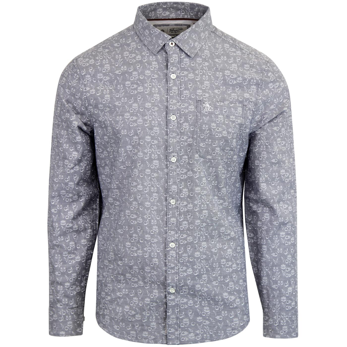 ORIGINAL PENGUIN 10 Pin Bowling Chambray Shirt