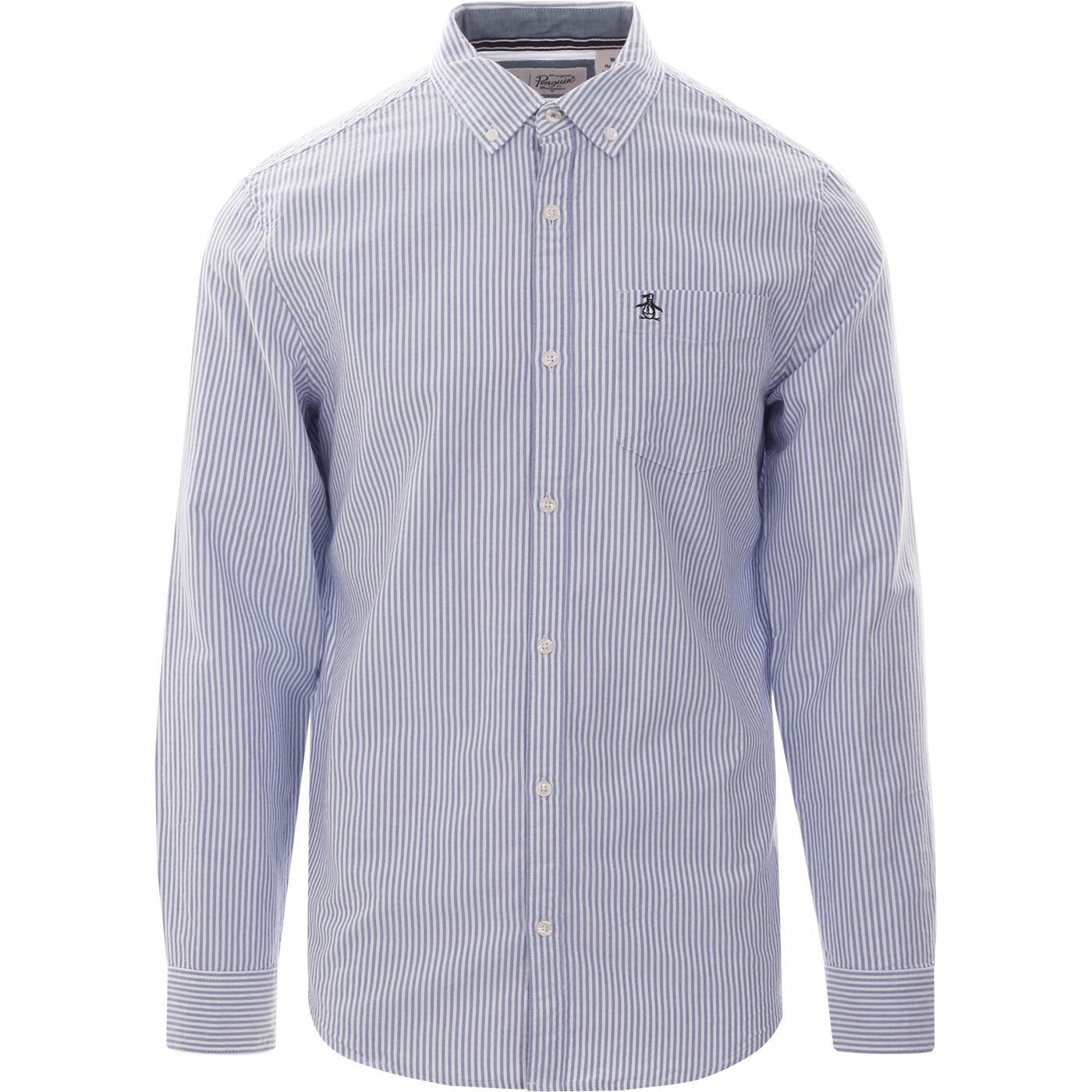 ORIGINAL PENGUIN Mod Stripe Oxford Shirt (Blue)