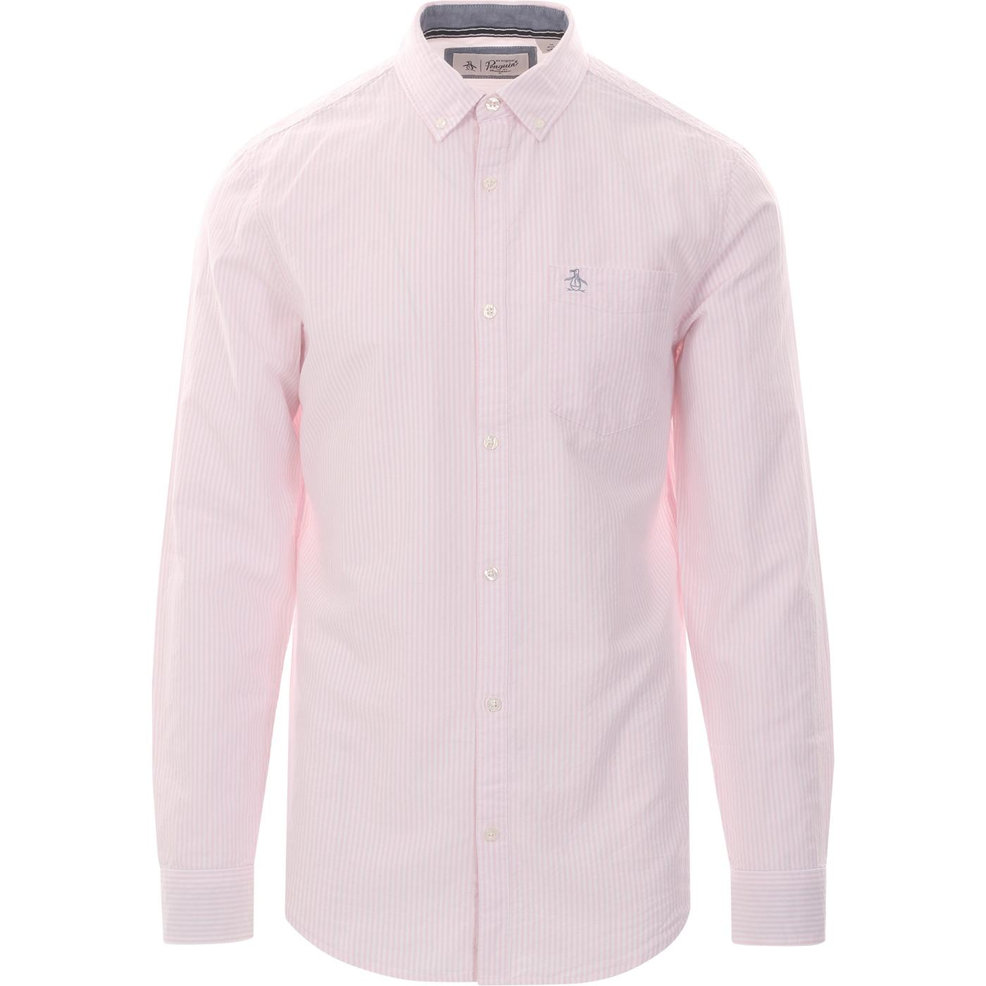 ORIGINAL PENGUIN Mod Stripe Oxford Shirt (Pink)