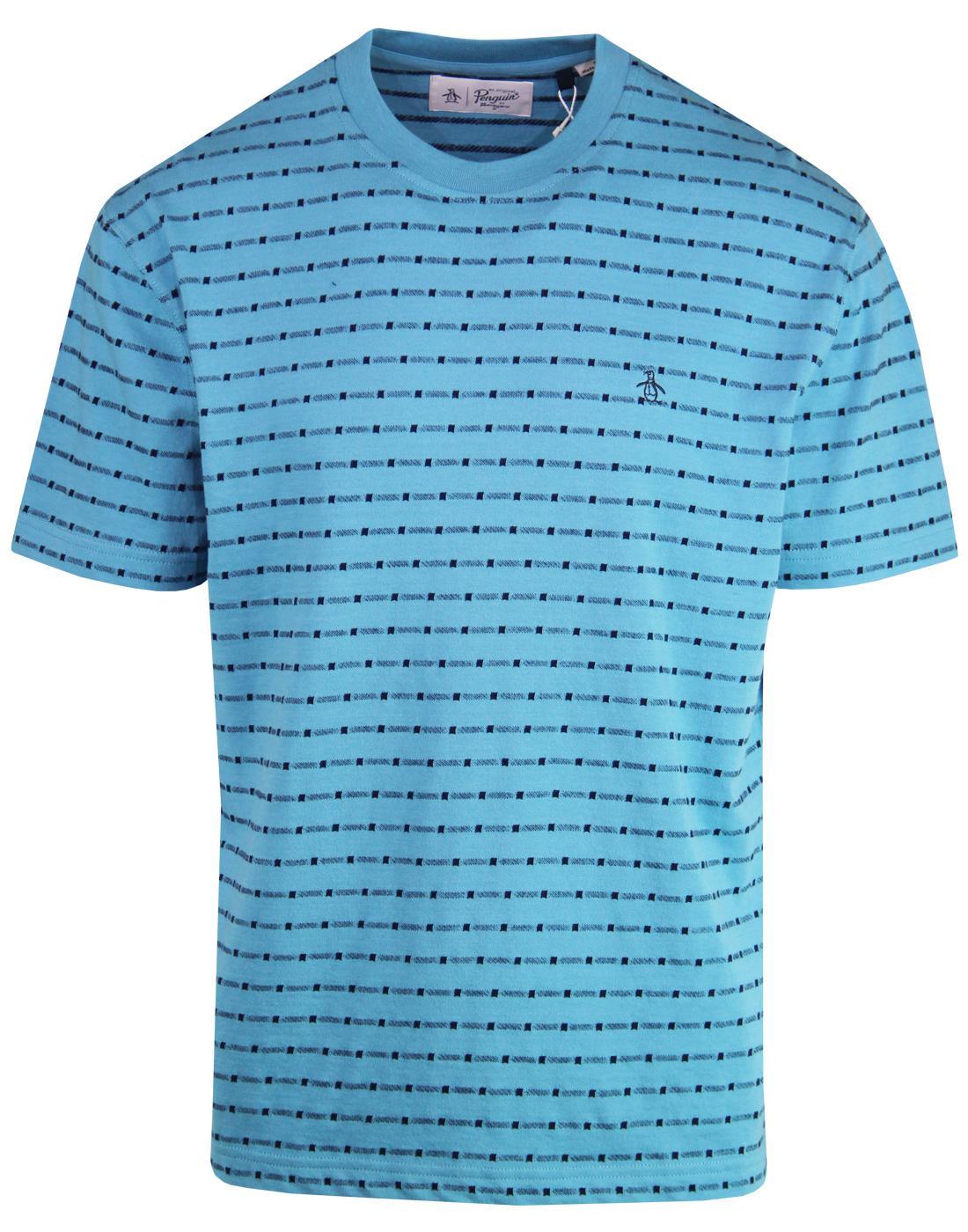 ORIGINAL PENGUIN Mens Retro 8 Bit Jacquard T-shirt