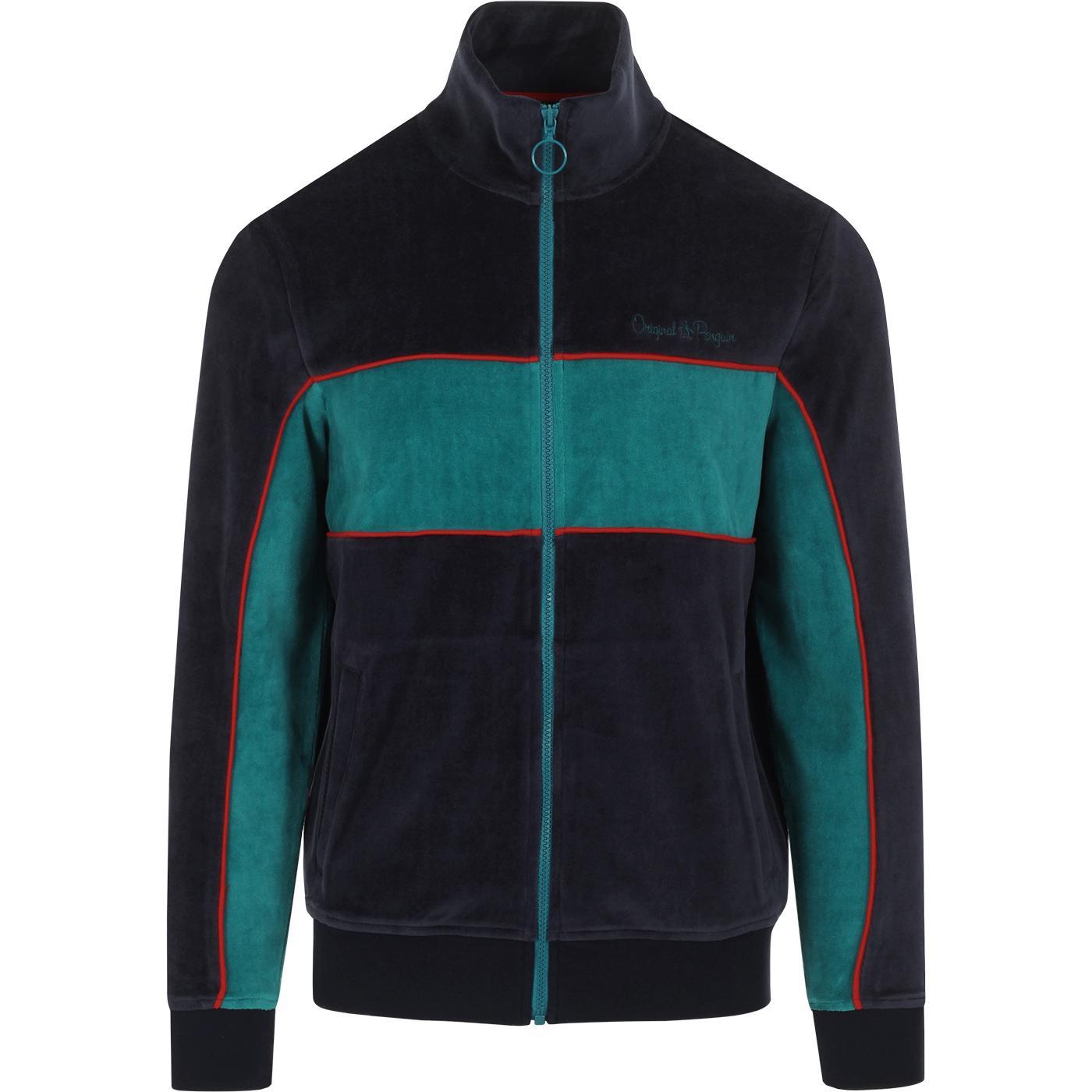 ORIGINAL PENGUIN Retro 90s Velour Track Jacket