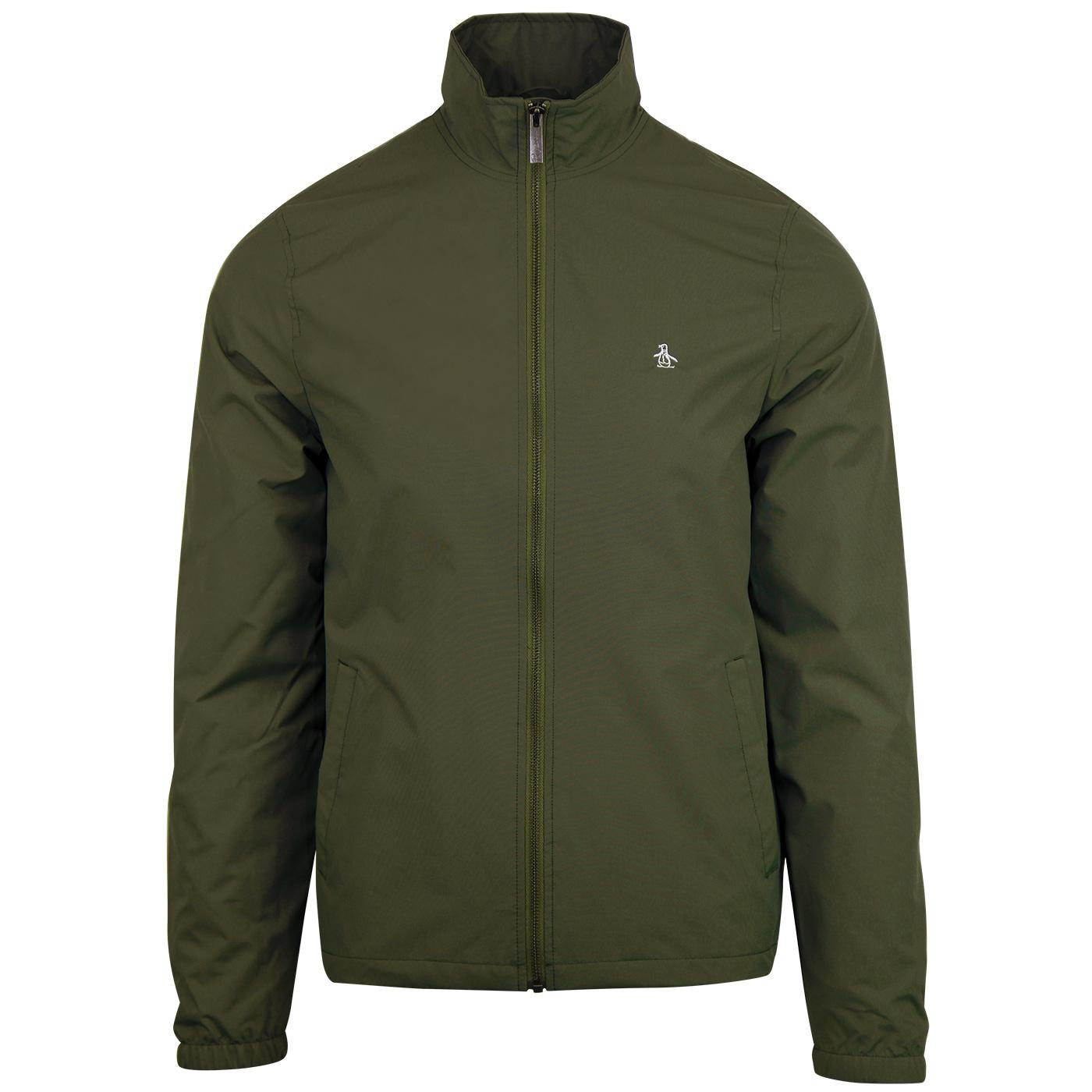 ORIGINAL PENGUIN Retro Windcheater Jacket - Green