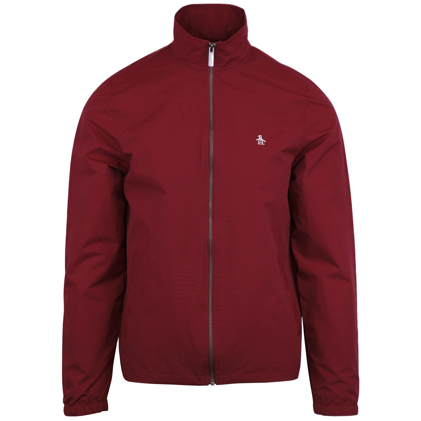 ORIGINAL PENGUIN Retro Windcheater Jacket - Red