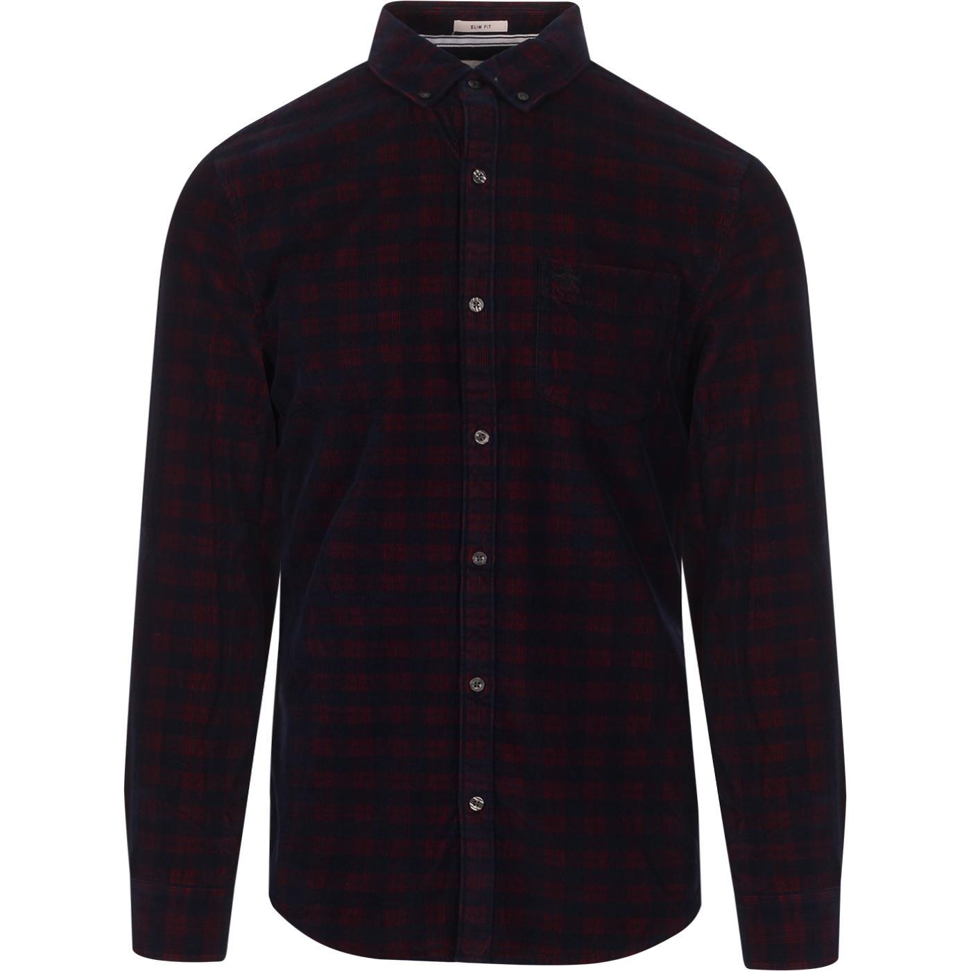 ORIGINAL PENGUIN Retro Yarn Dye Cord Check Shirt